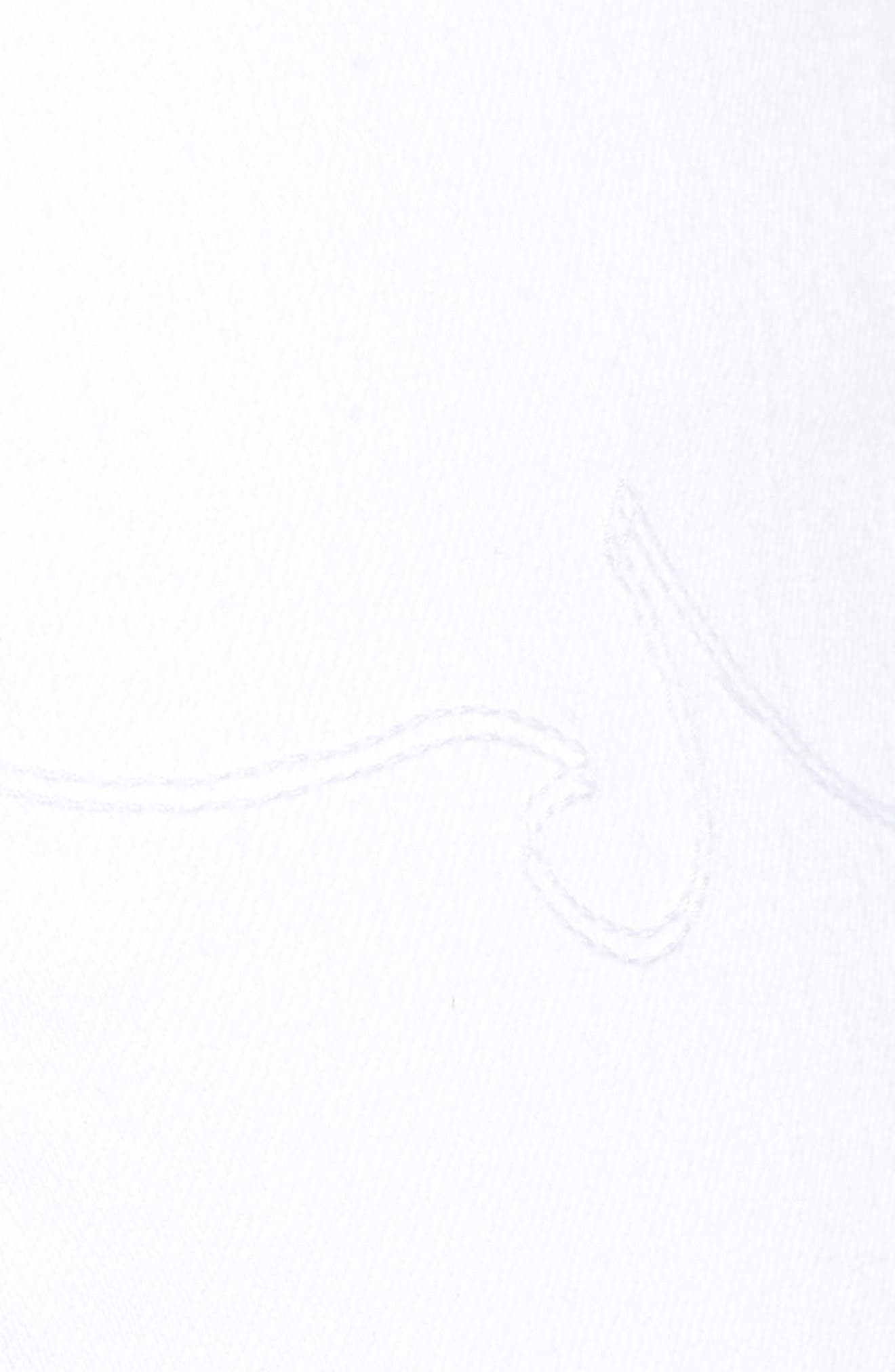 Etta High Waist Crop Wide Leg Jeans,                             Alternate thumbnail 6, color,                             White