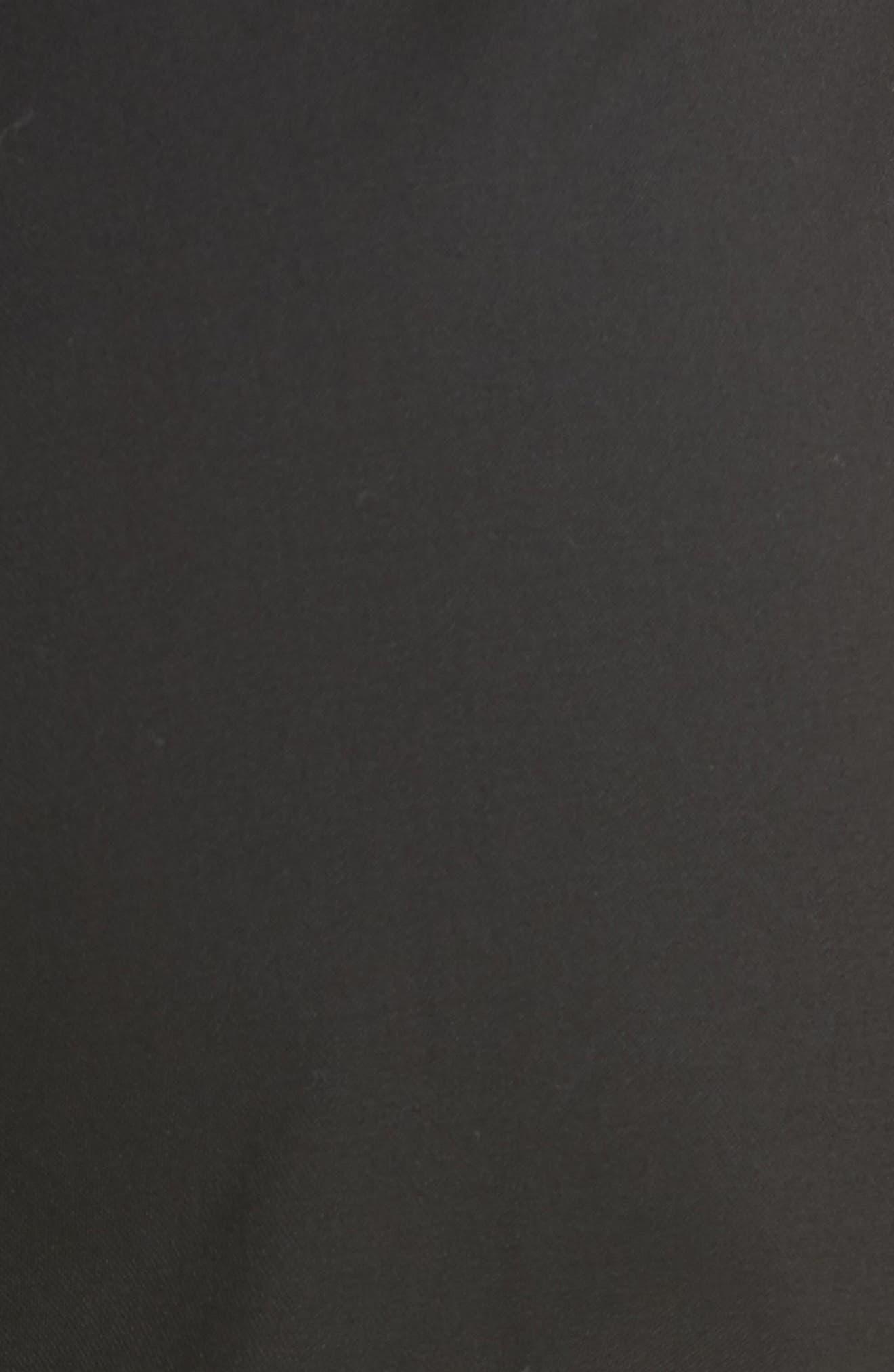 Flower Trim Italian Stretch Wool Pants,                             Alternate thumbnail 3, color,                             Black