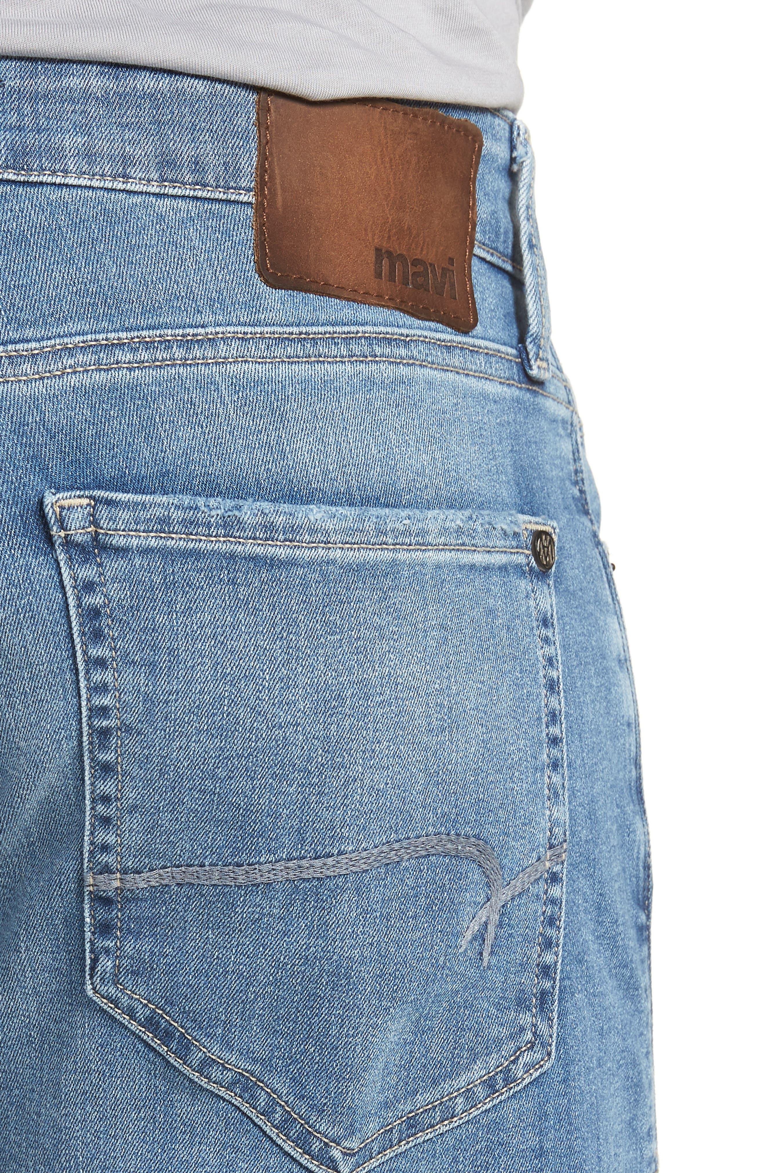 Jake Slim Fit Jeans,                             Alternate thumbnail 4, color,                             Light Blue Willamsburg