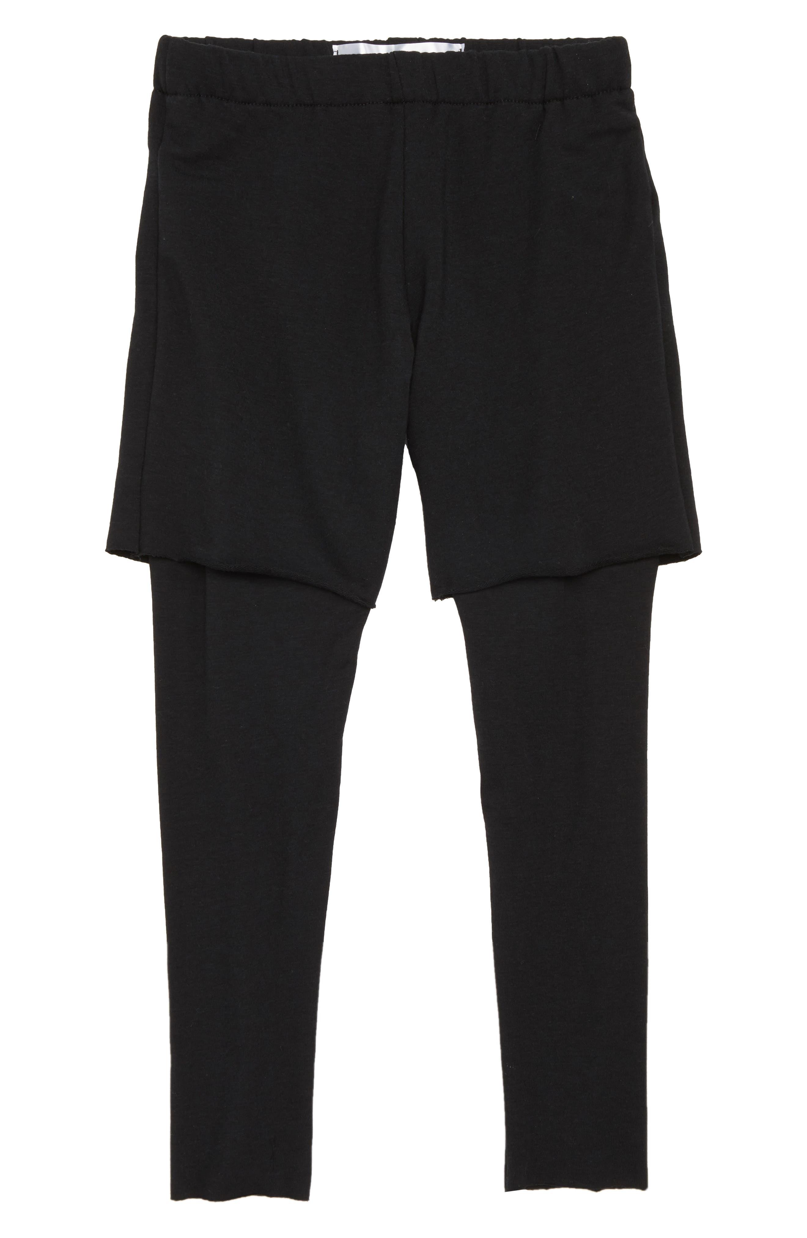 Pants,                             Main thumbnail 1, color,                             Black