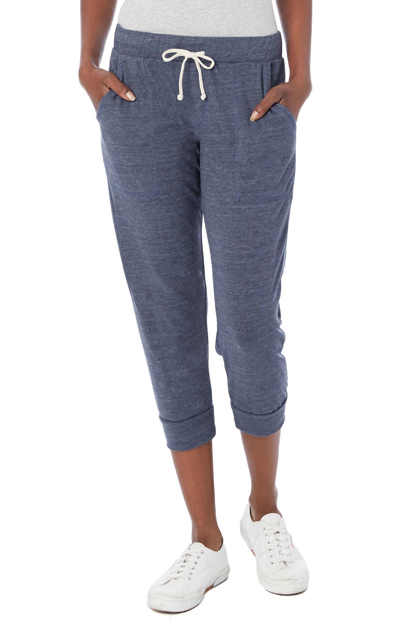 Eco Crop Jogger Lounge Pants,                         Main,                         color, Eco True Navy