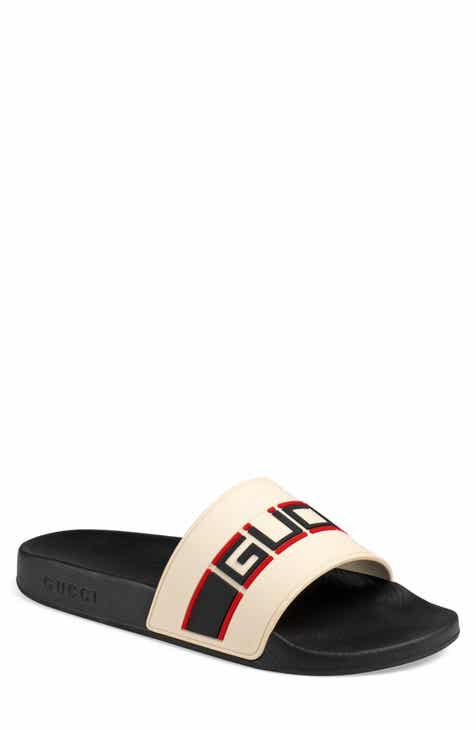 7a96e7a541a8 Gucci Pursuit Stripe Slide Sandal (Men)