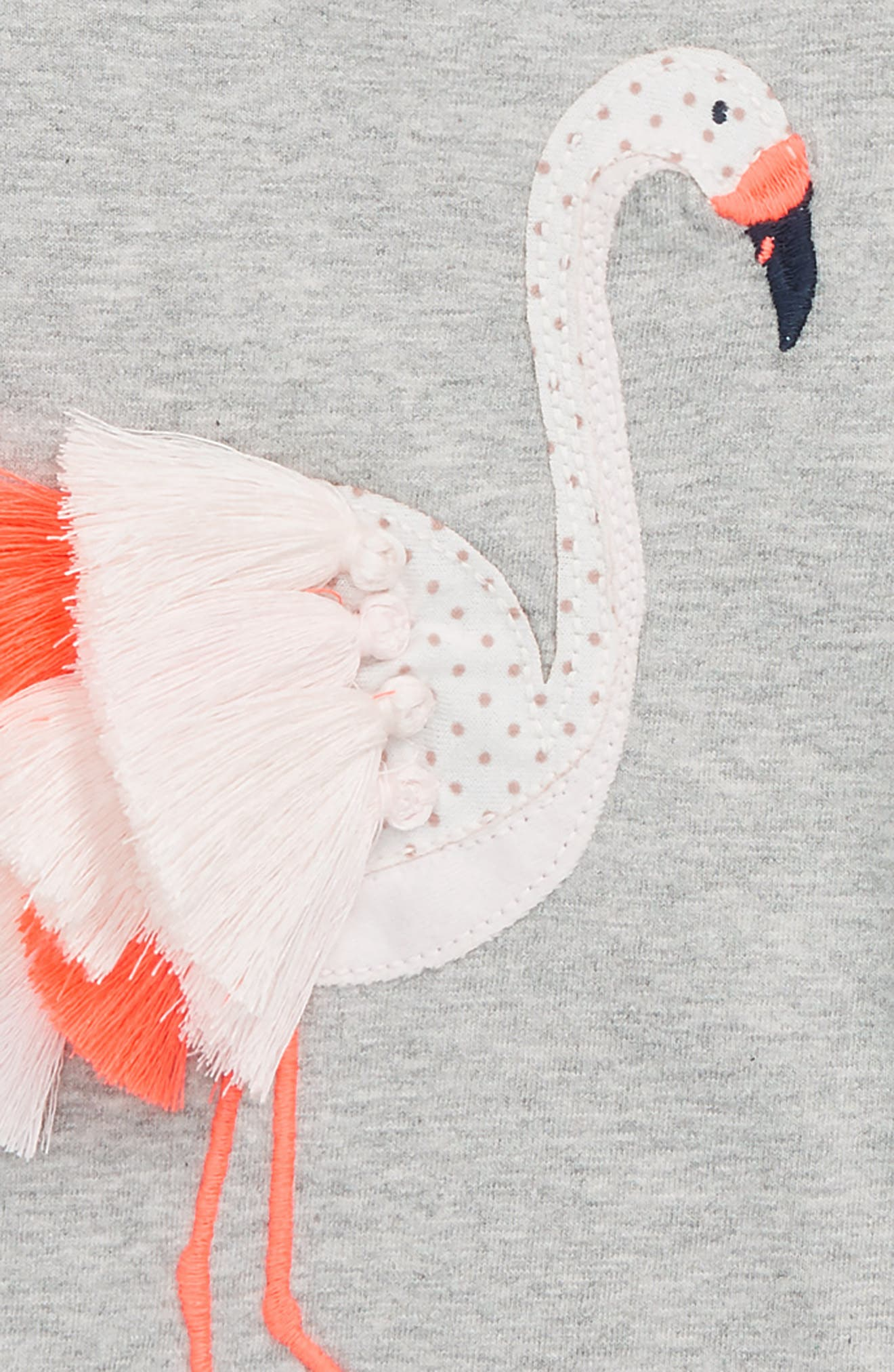 Tropical Animal Tee,                             Alternate thumbnail 2, color,                             Grey Marl Flamingo
