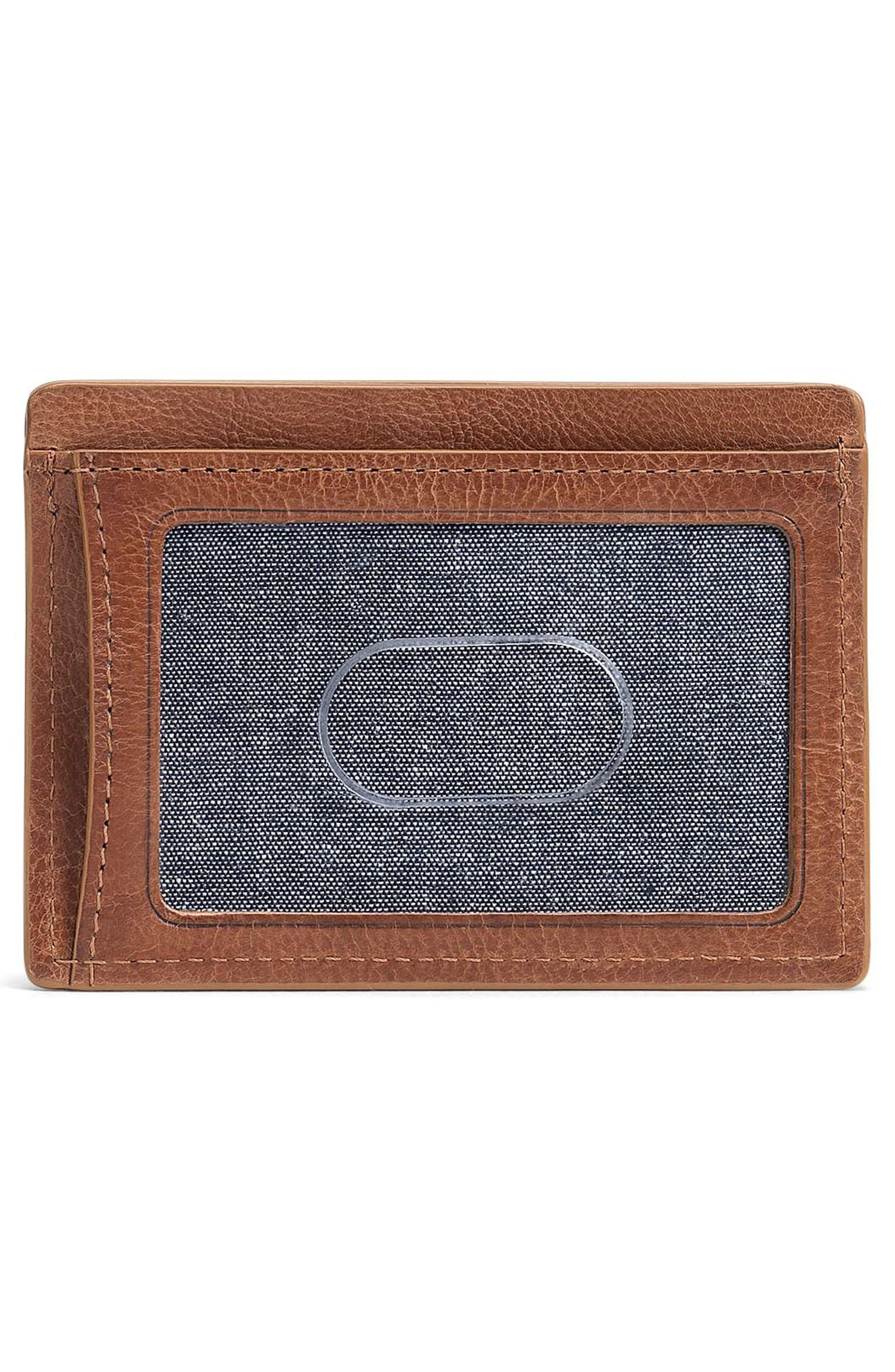 Canyon Leather Card Case,                             Alternate thumbnail 2, color,                             Tan