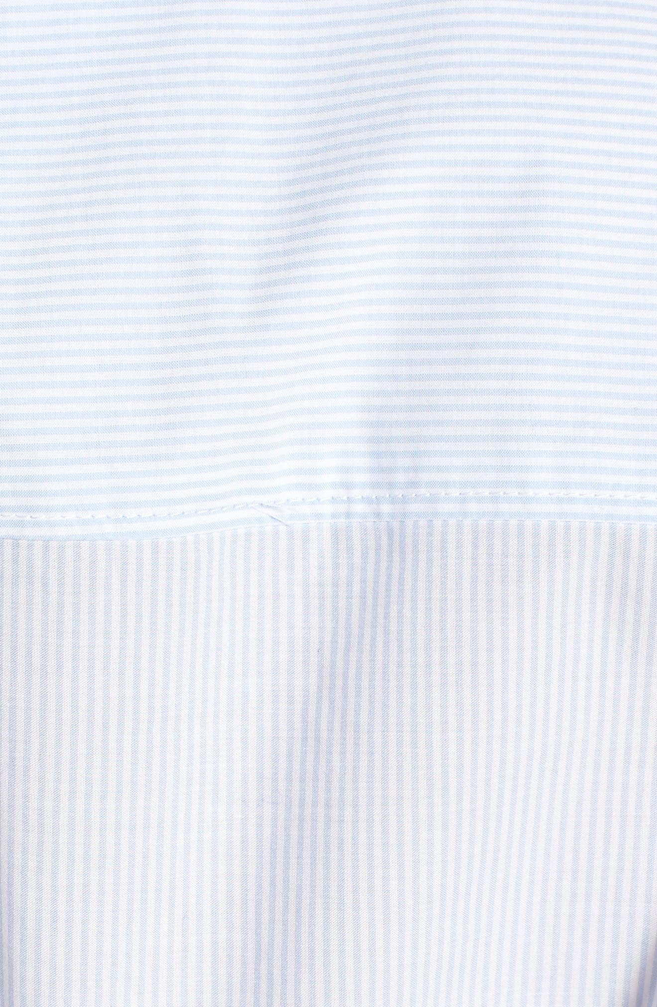 Tie Back Shirt,                             Alternate thumbnail 3, color,                             Serenity / Bright White