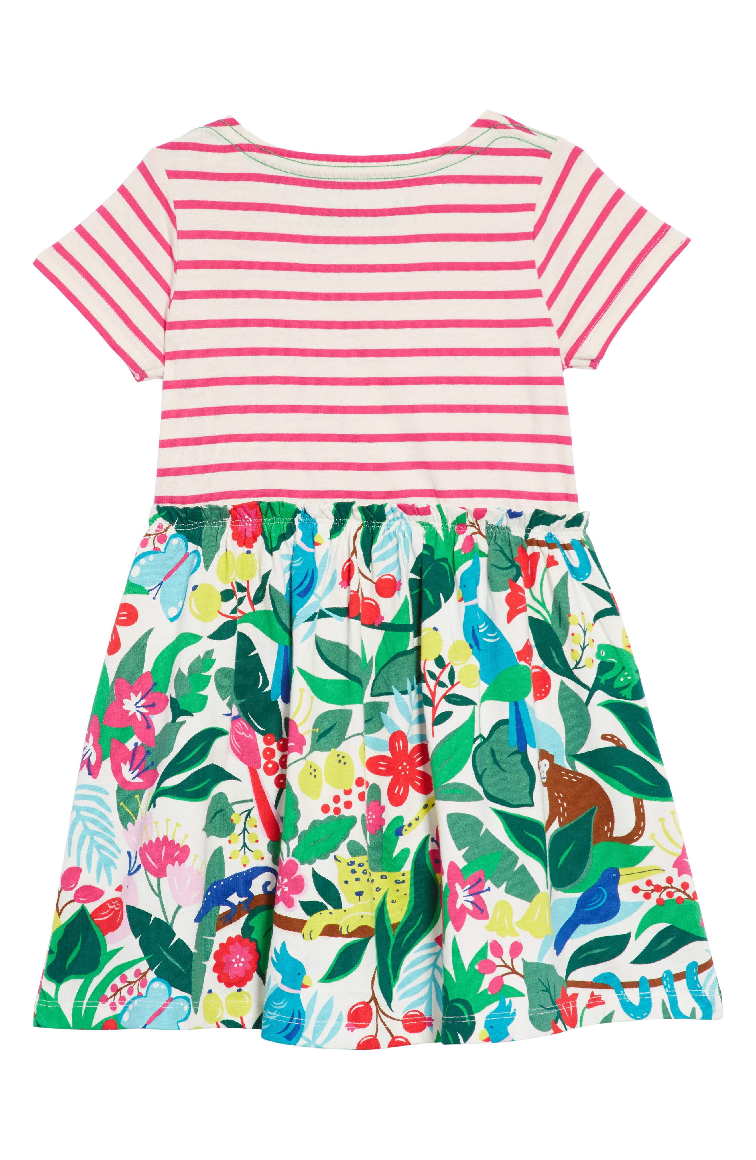 Bright Hotchpotch Jersey Dress,                             Alternate thumbnail 2, color,                             Ecru Jungle Jumble