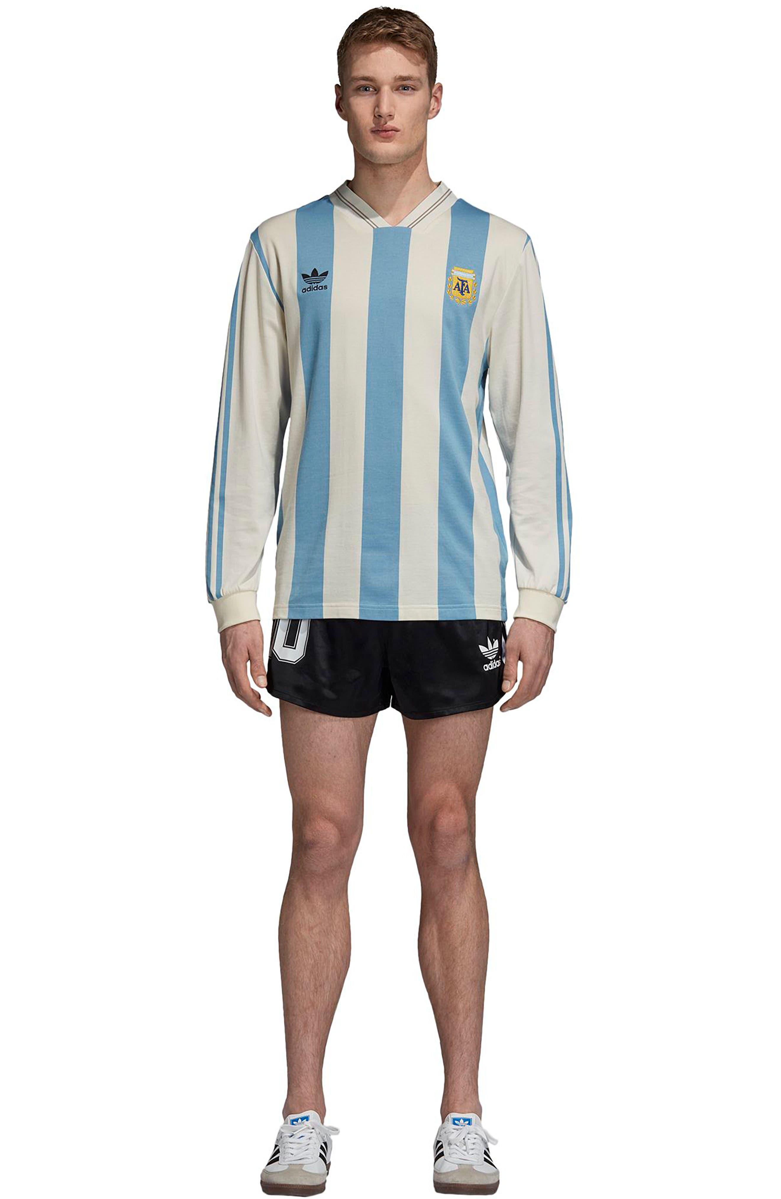 adidas Original Argentina 1987 Shorts,                             Alternate thumbnail 7, color,                             Black