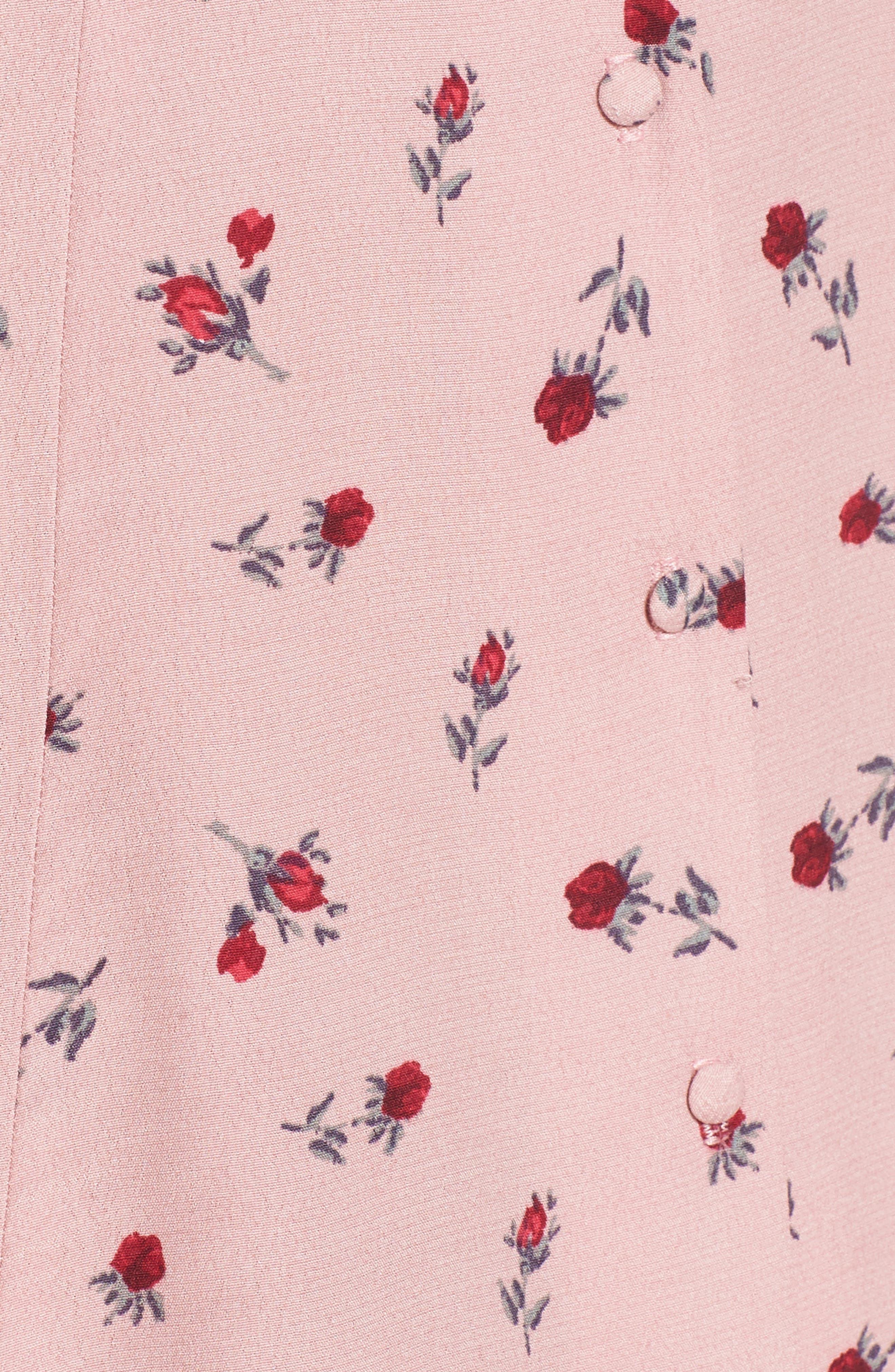 Floral Minidress,                             Alternate thumbnail 3, color,                             Mauve