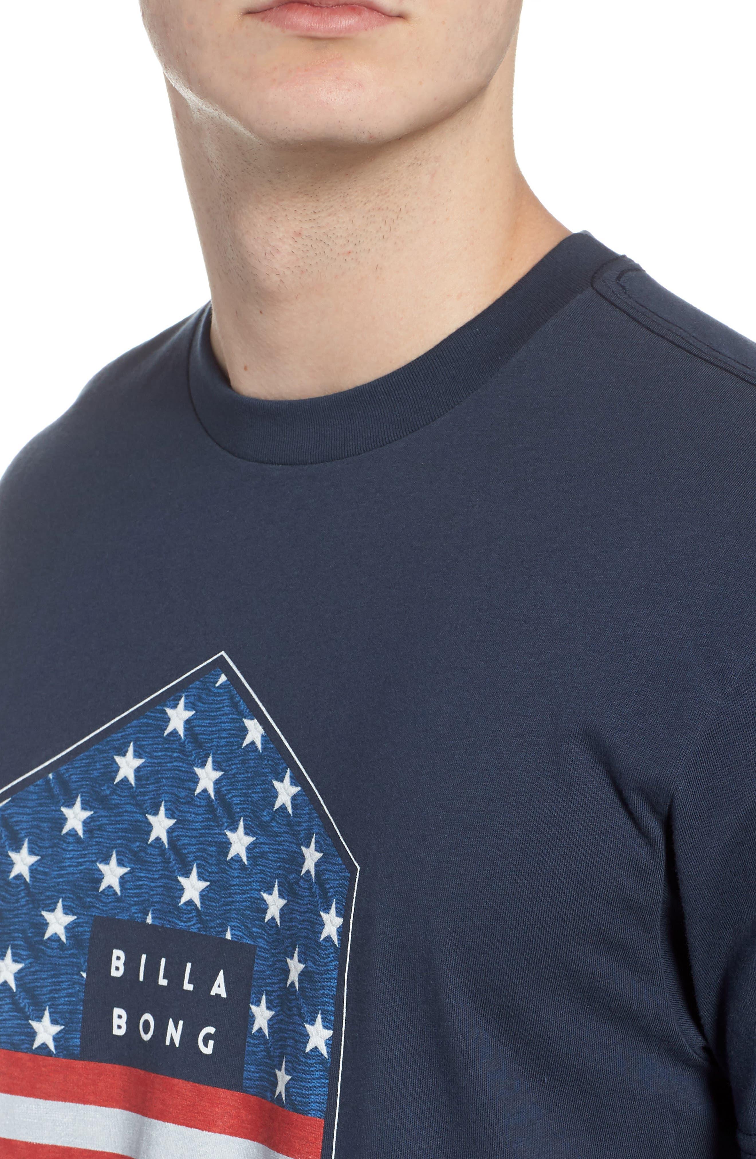 Access Graphic T-Shirt,                             Alternate thumbnail 4, color,                             Navy