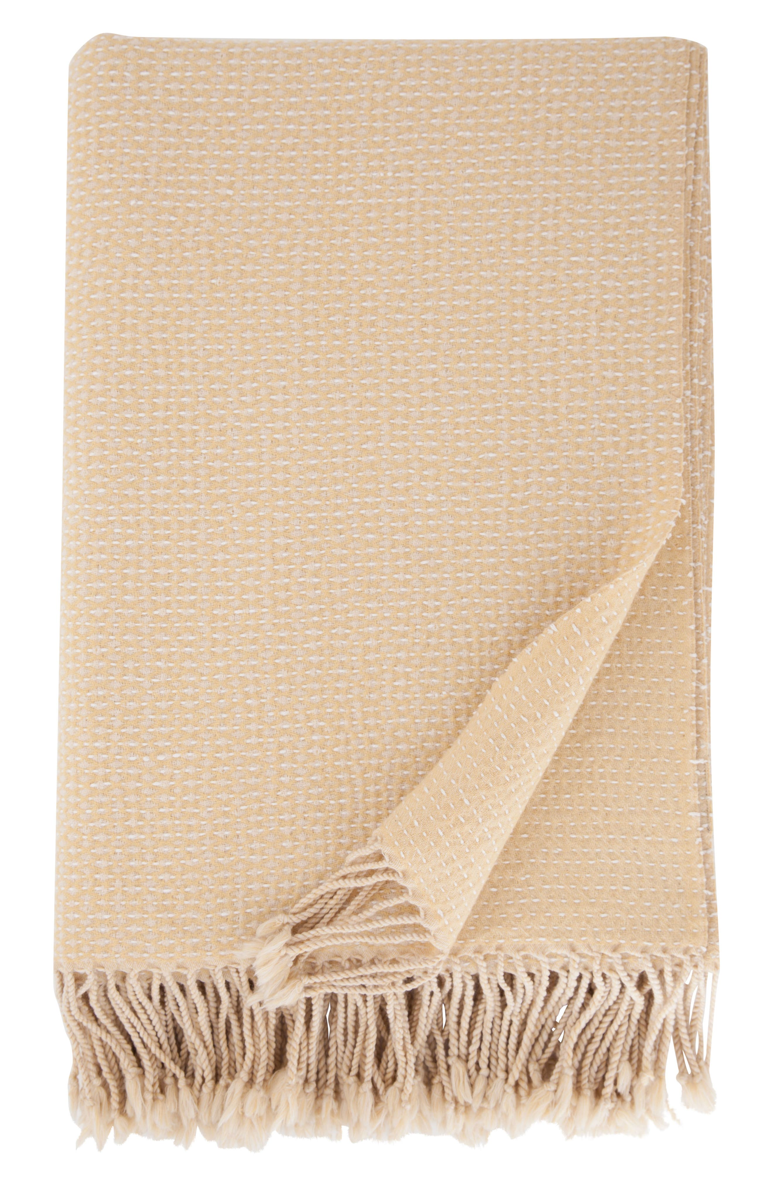 Modern Staples Hand Embroidered Merino Wool Blanket