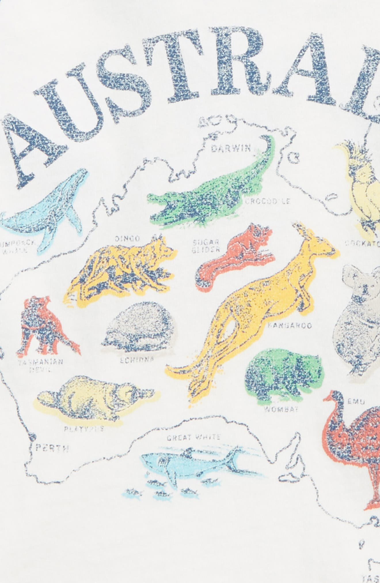 Australia Raglan T-Shirt,                             Alternate thumbnail 3, color,                             Ivory