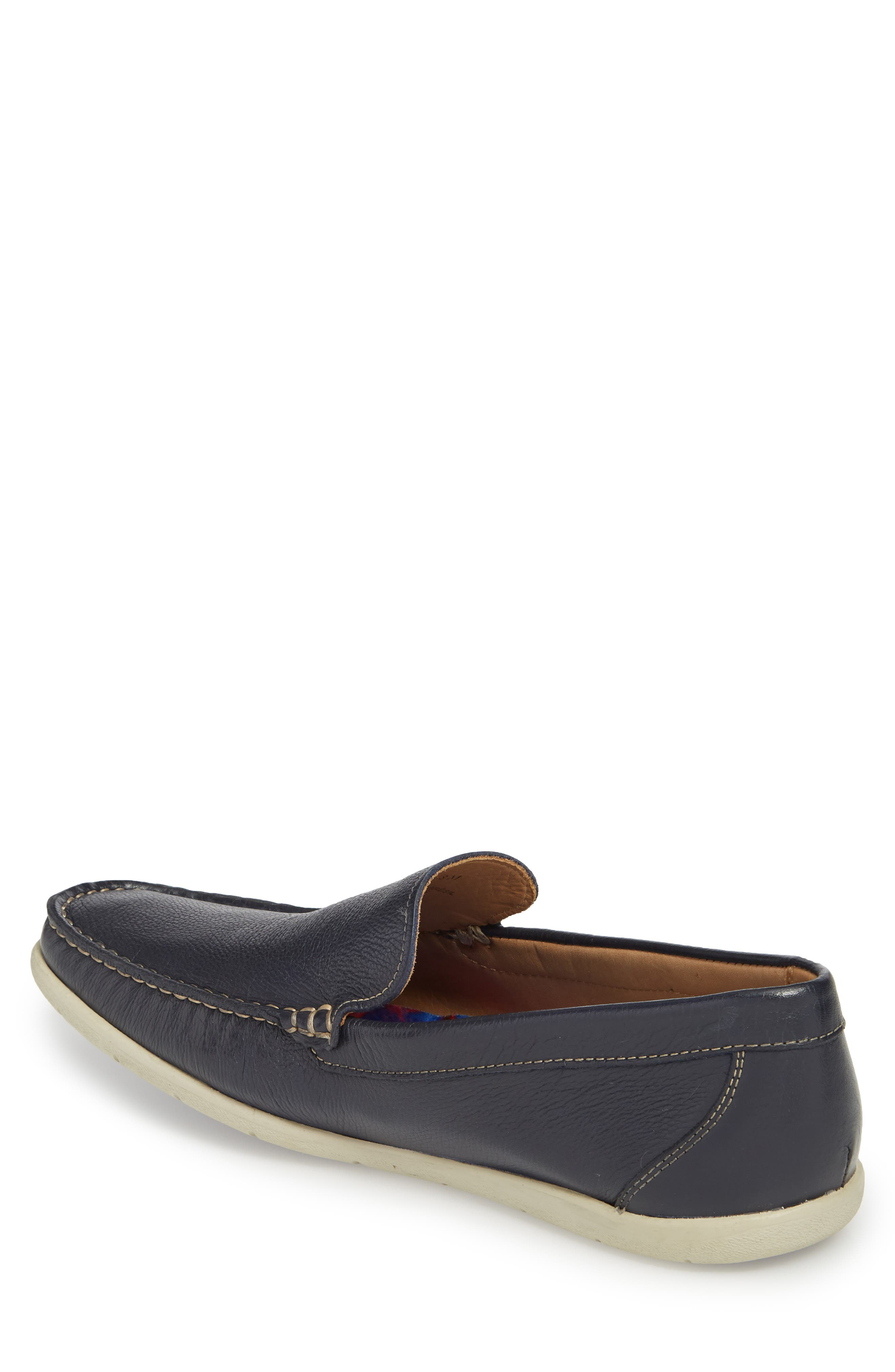 Calistoga Loafer,                             Alternate thumbnail 2, color,                             Navy Leather