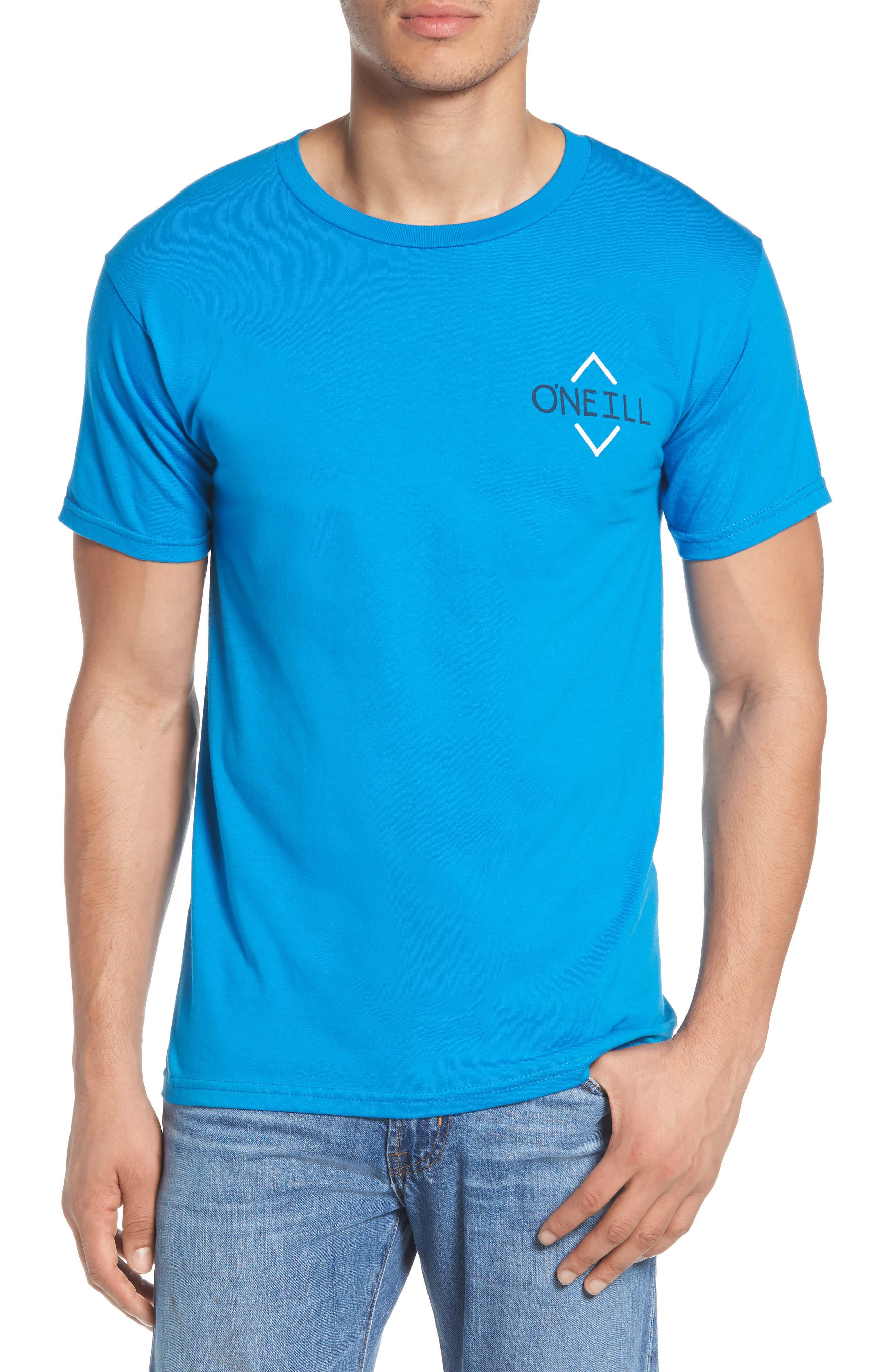 Fisher Graphic T-Shirt,                             Main thumbnail 1, color,                             Brilliant Blue