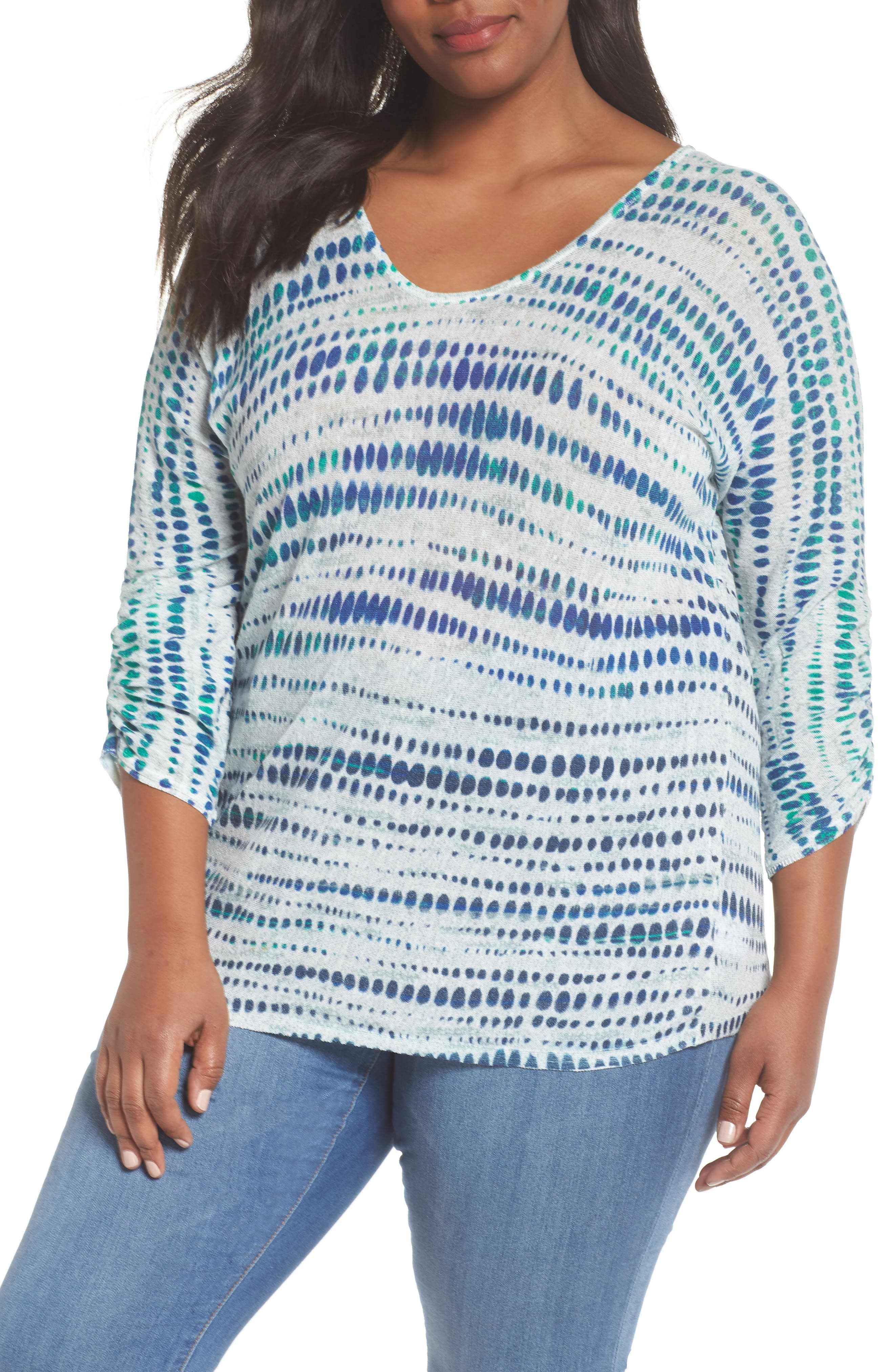 High Point Print Top,                         Main,                         color, Multi