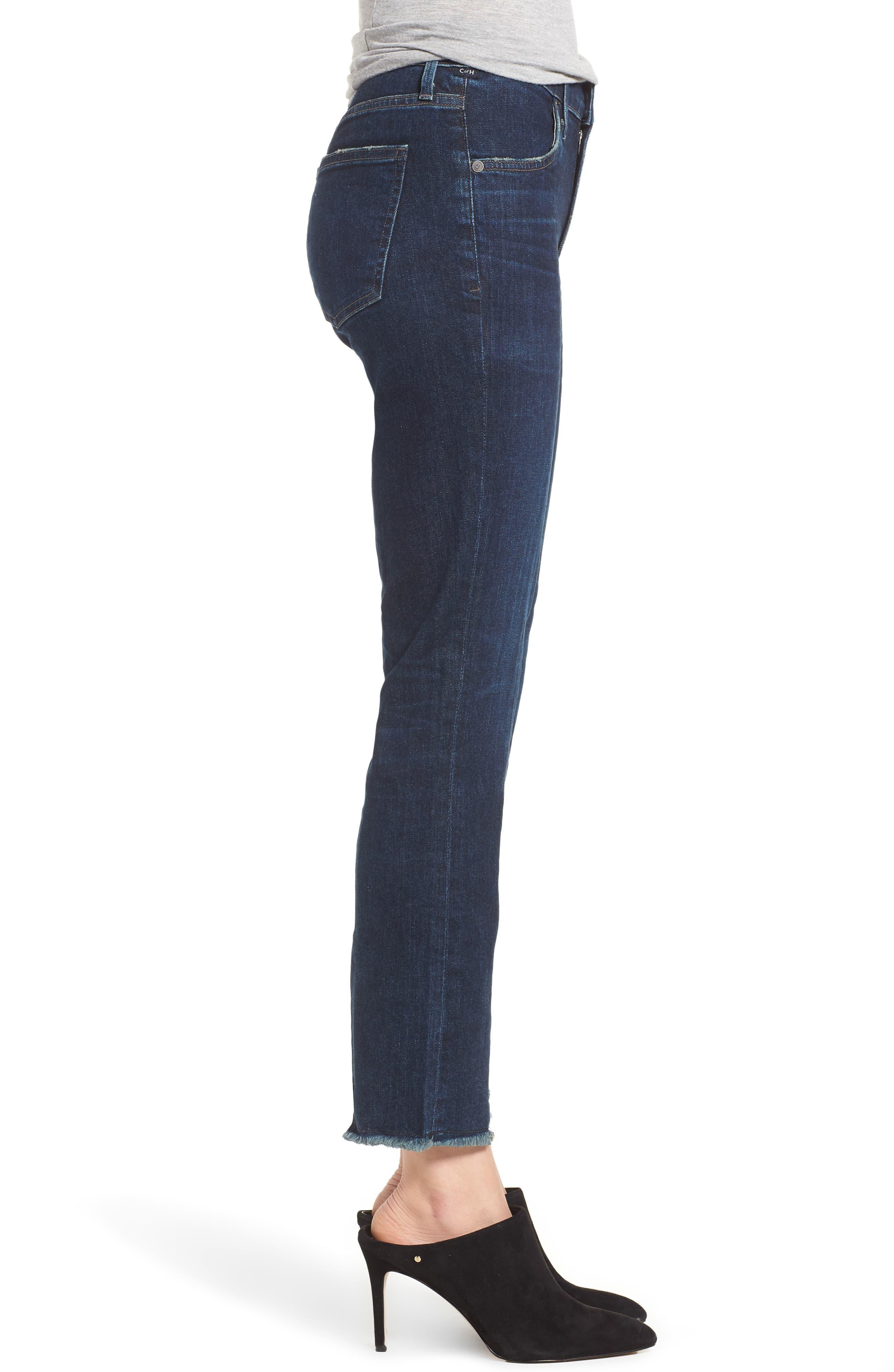 Amari Ankle Skinny Jeans,                             Alternate thumbnail 3, color,                             Maya