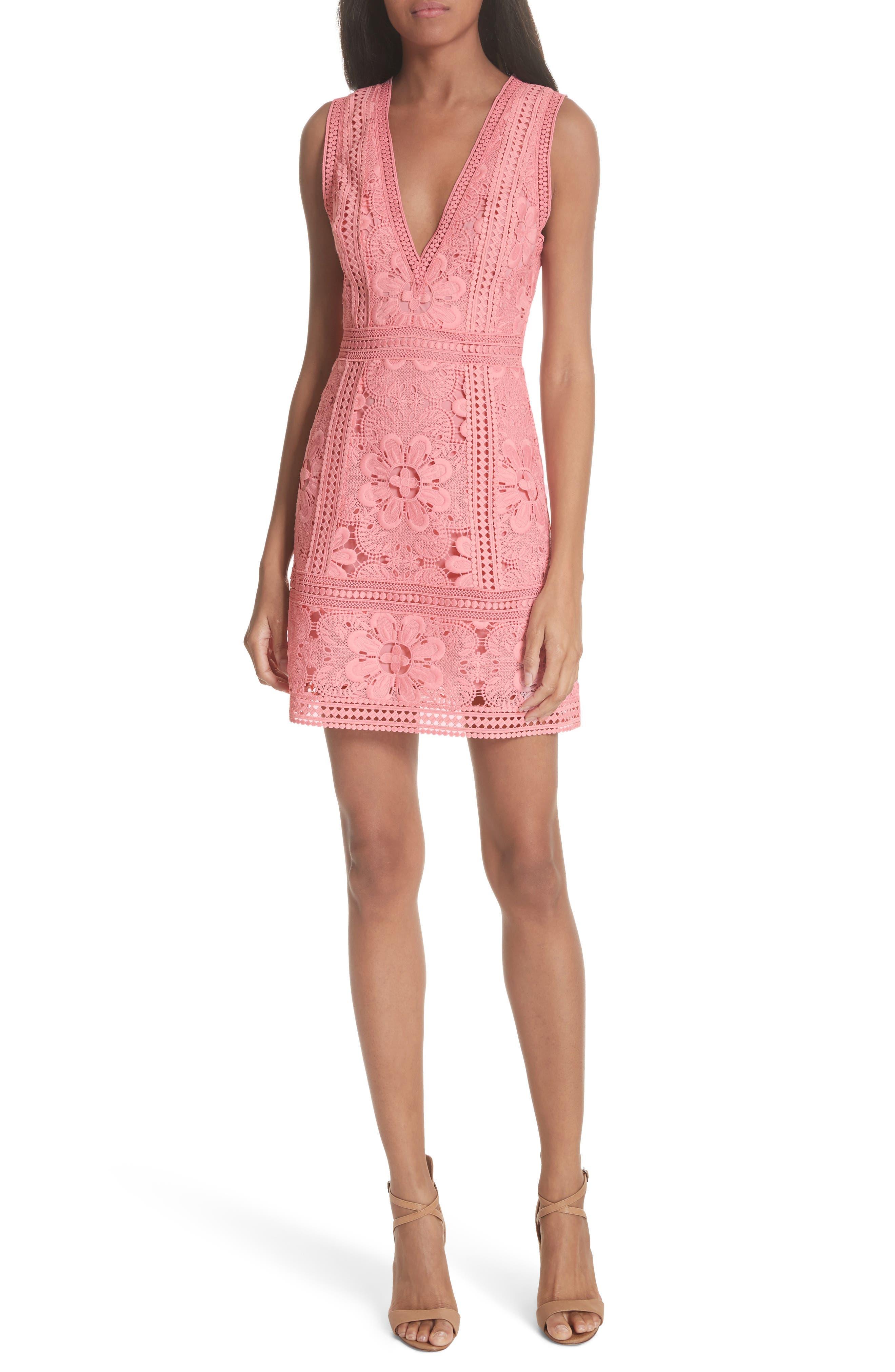 Zula Lace Minidress,                         Main,                         color, Blossom
