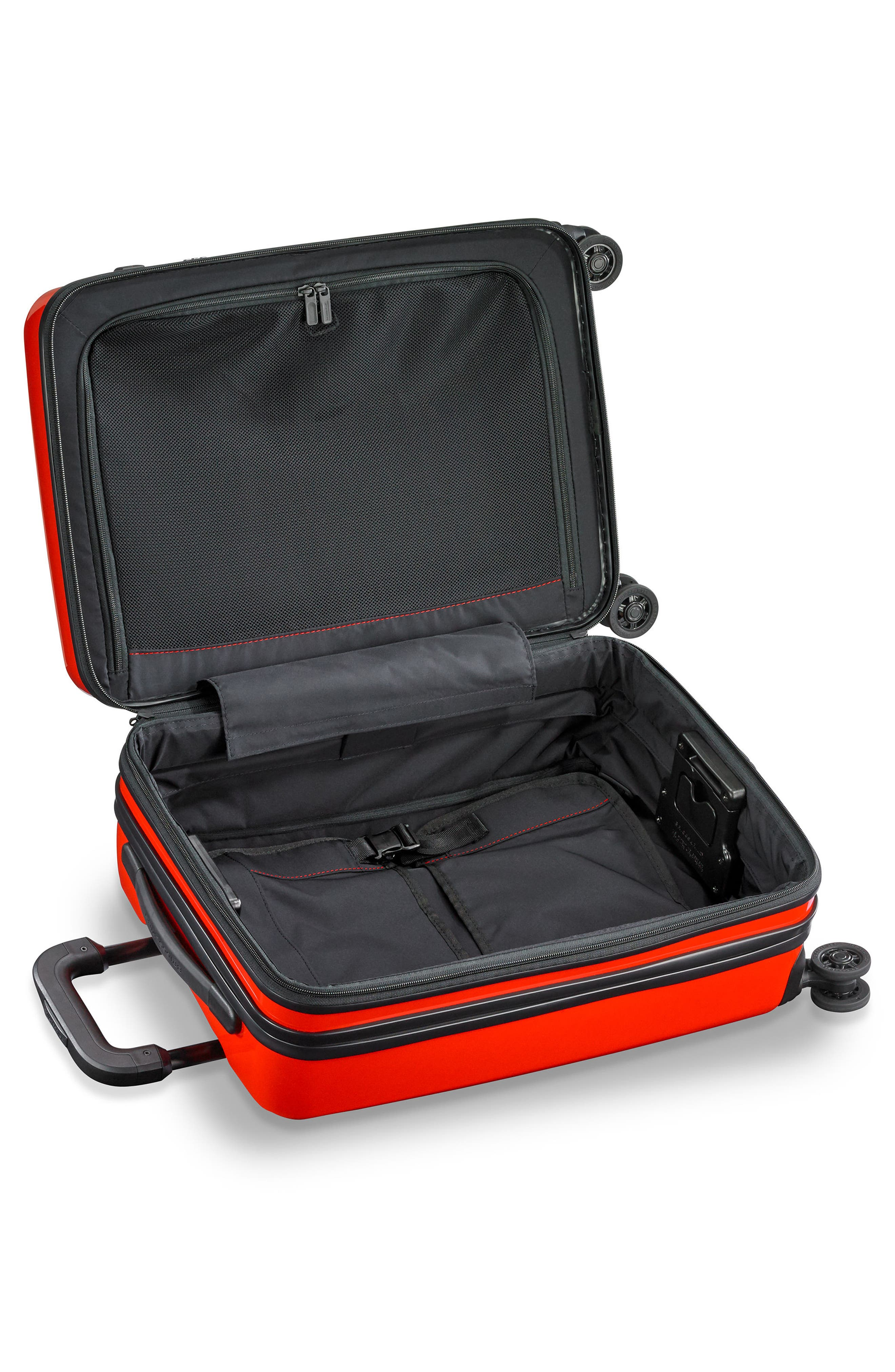 Domestic Expandable Spinner Wheeled Carry-On,                             Alternate thumbnail 4, color,                             Fire