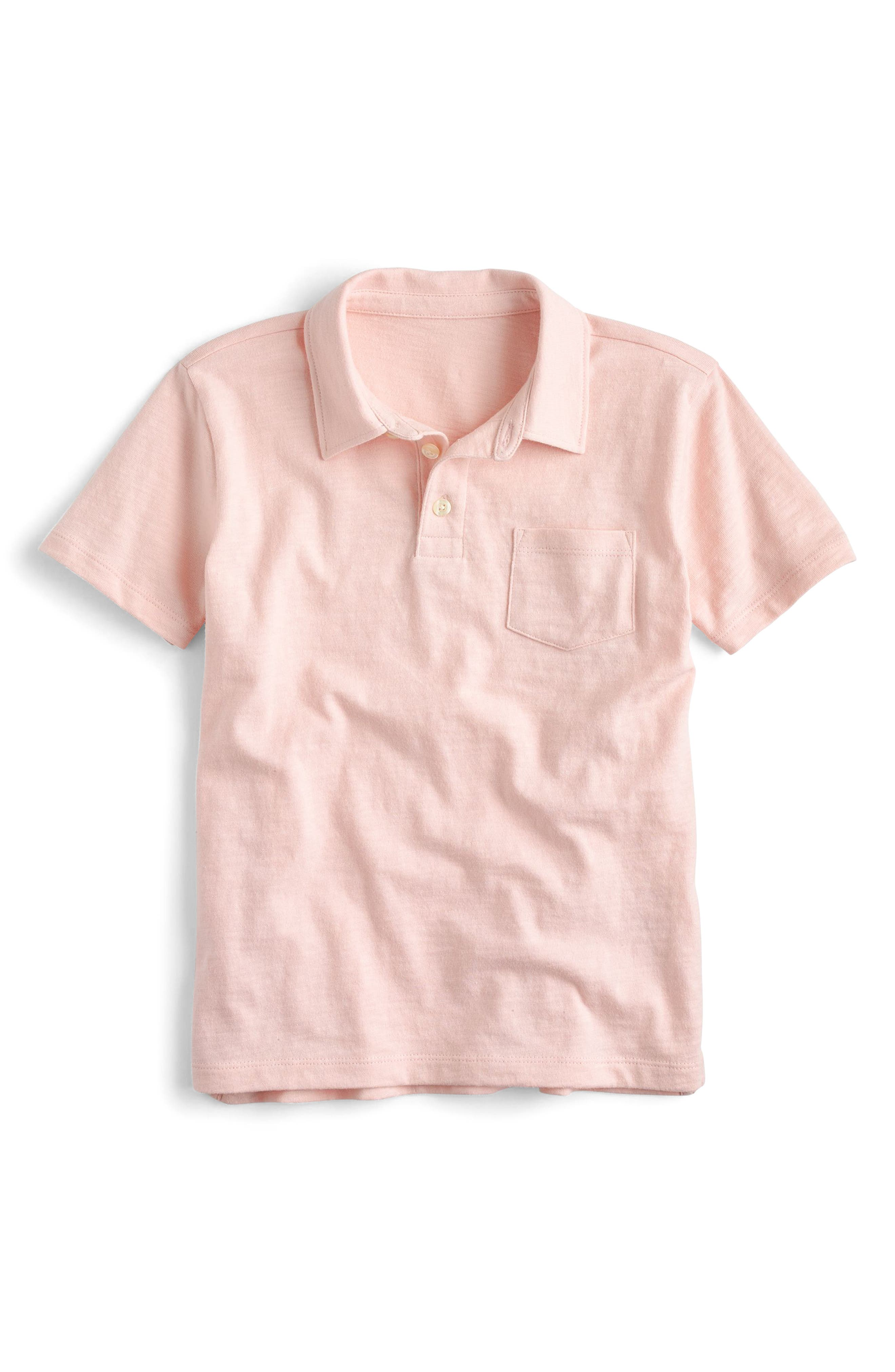 Alternate Image 1 Selected - crewcuts by J.Crew Jersey Polo (Toddler Boys, Little Boys & Big Boys)