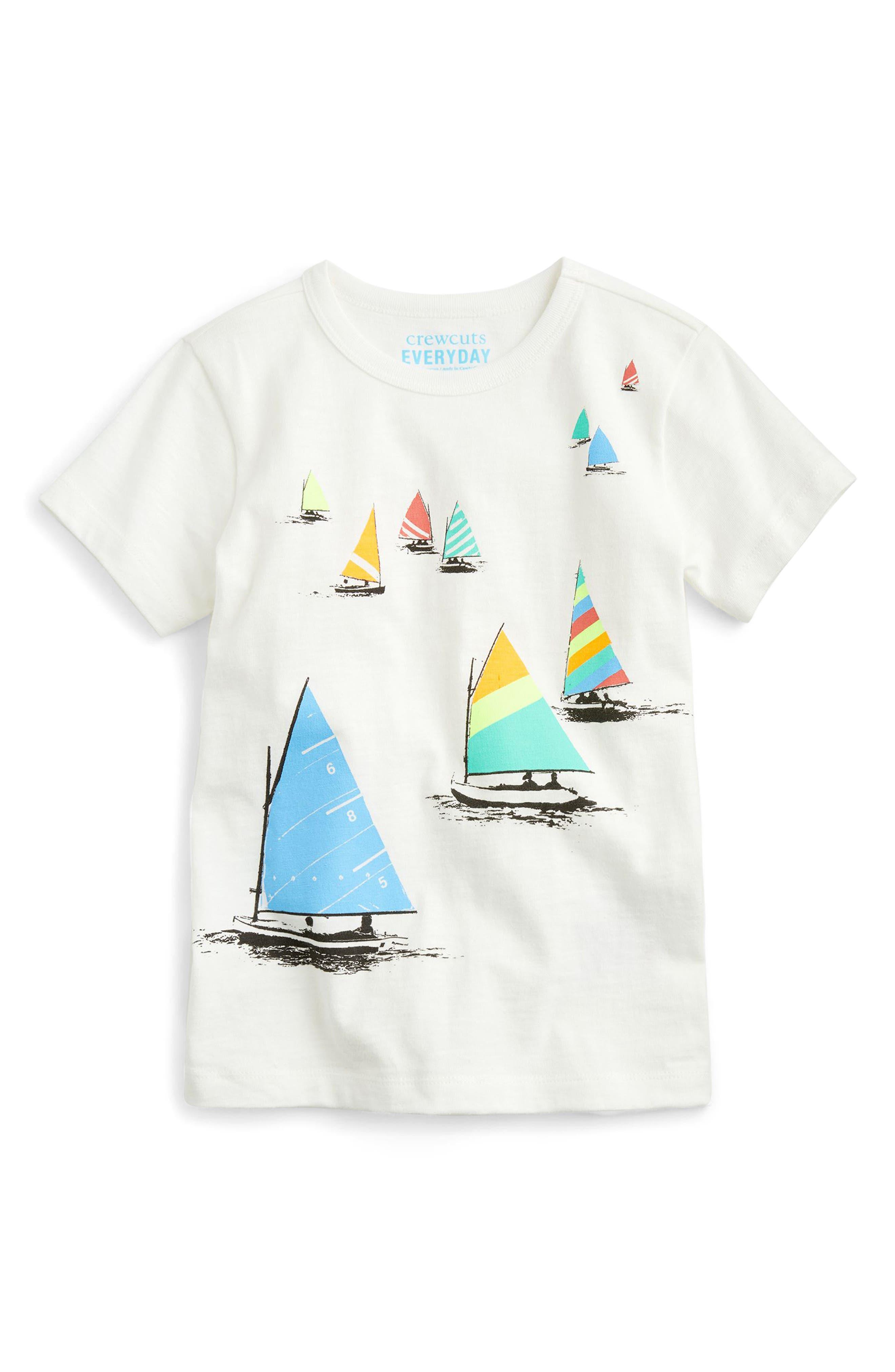crewcuts by J.Crew Sailboats Print T-Shirt (Toddler Boys, Little Boys & Big Boys)