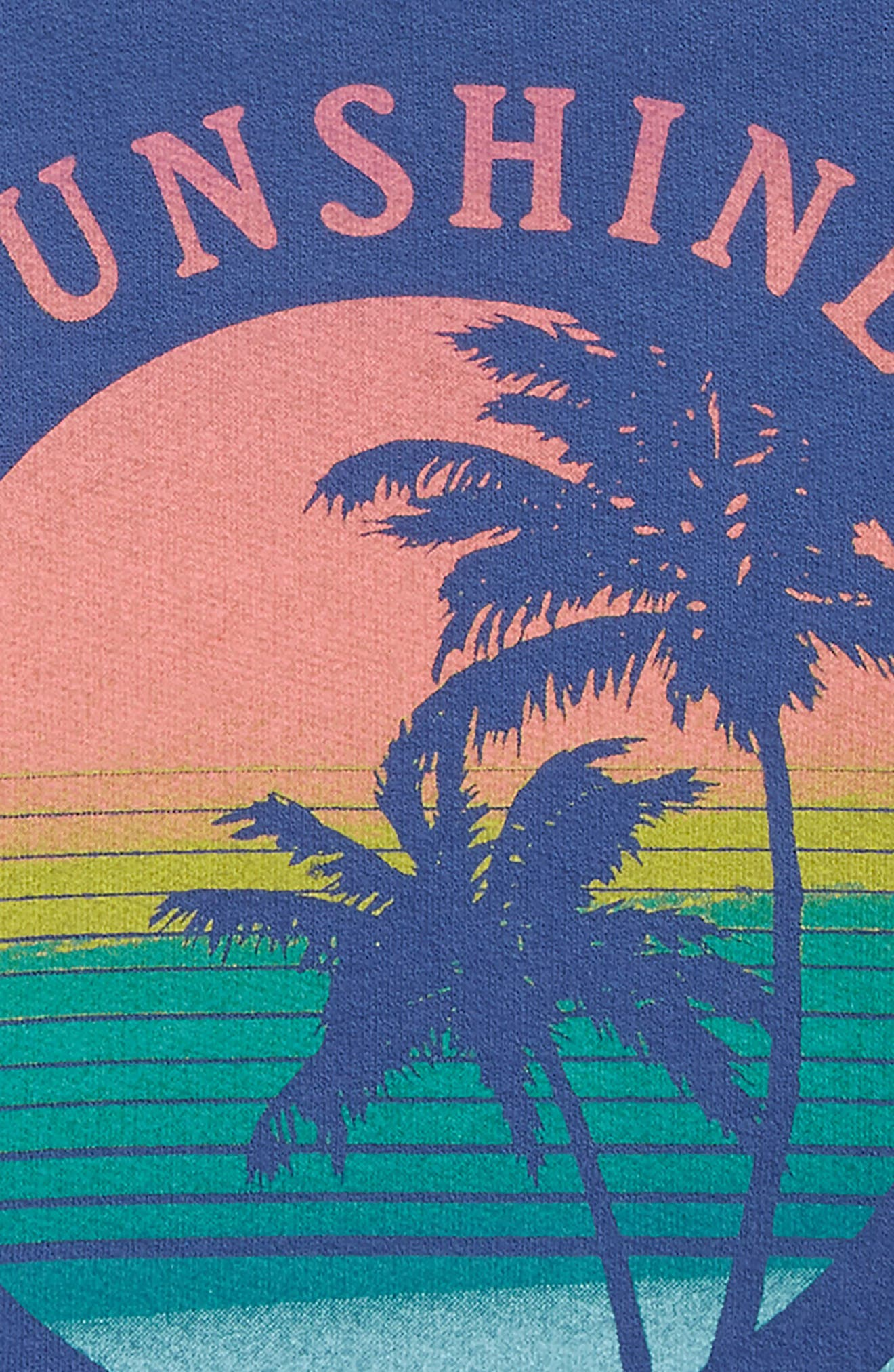 Sunshine On My Mind Graphic Tee,                             Alternate thumbnail 2, color,                             Navy