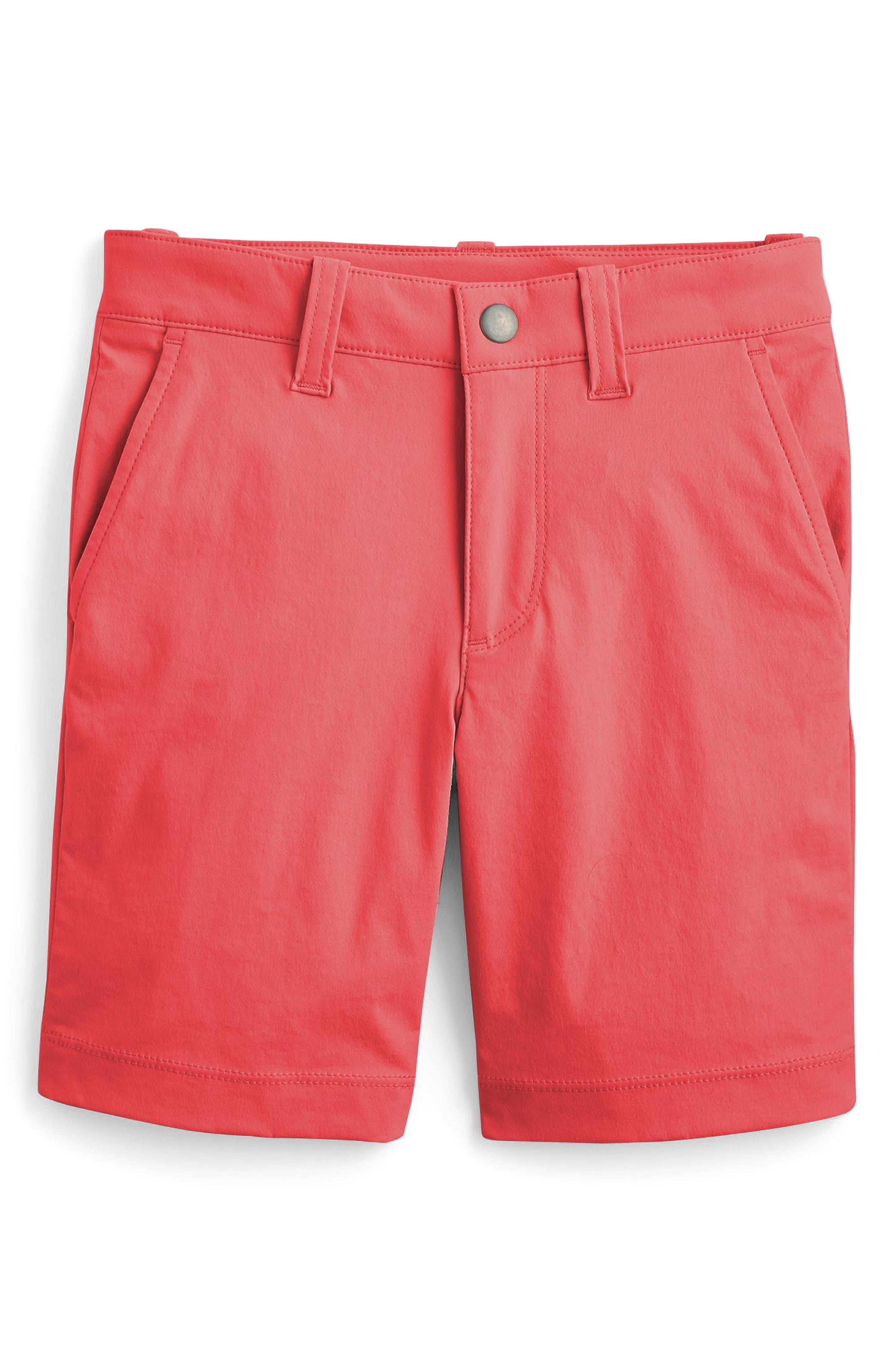 Tech Shorts,                             Main thumbnail 1, color,                             Fiery Red