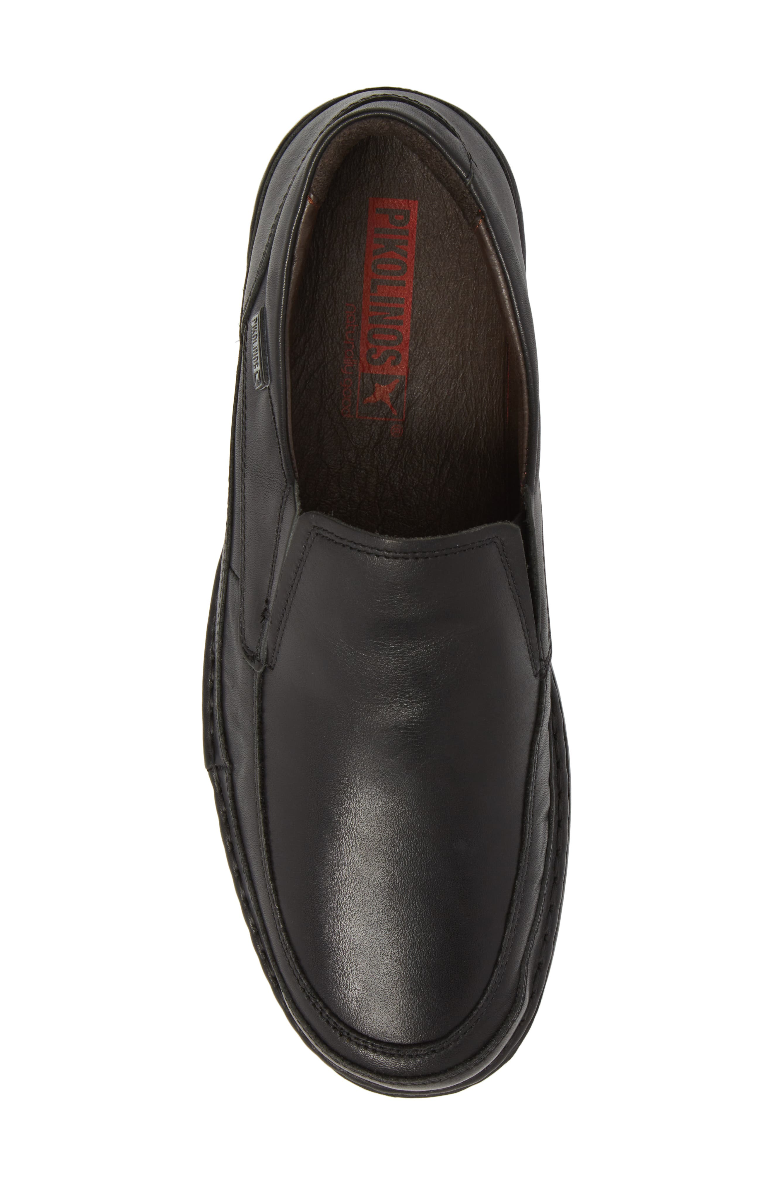 'Oviedo' Slip-On,                             Alternate thumbnail 5, color,                             Black Leather