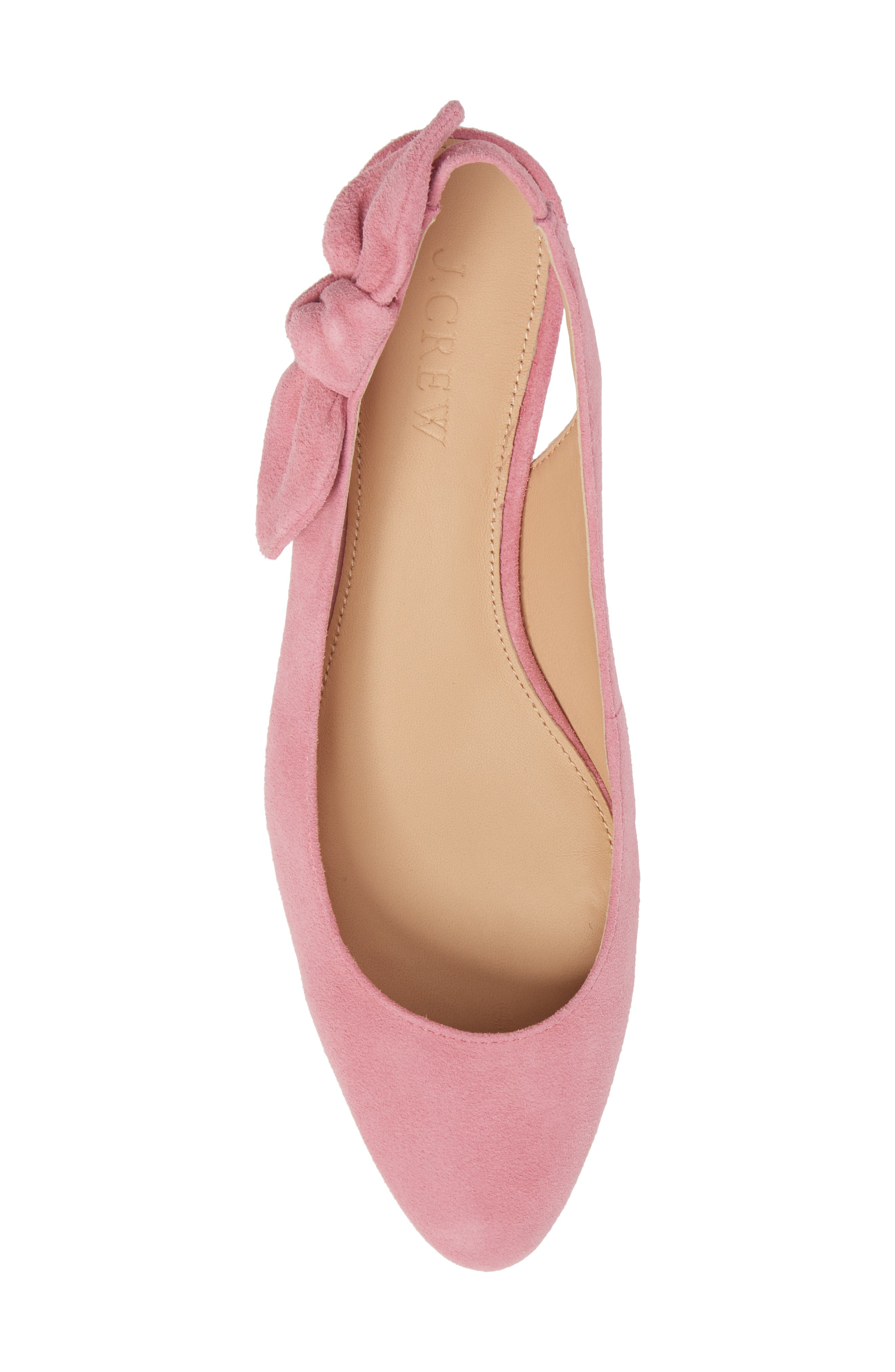 Slingback Bow Pump,                             Alternate thumbnail 5, color,                             Winter Coral Fabric