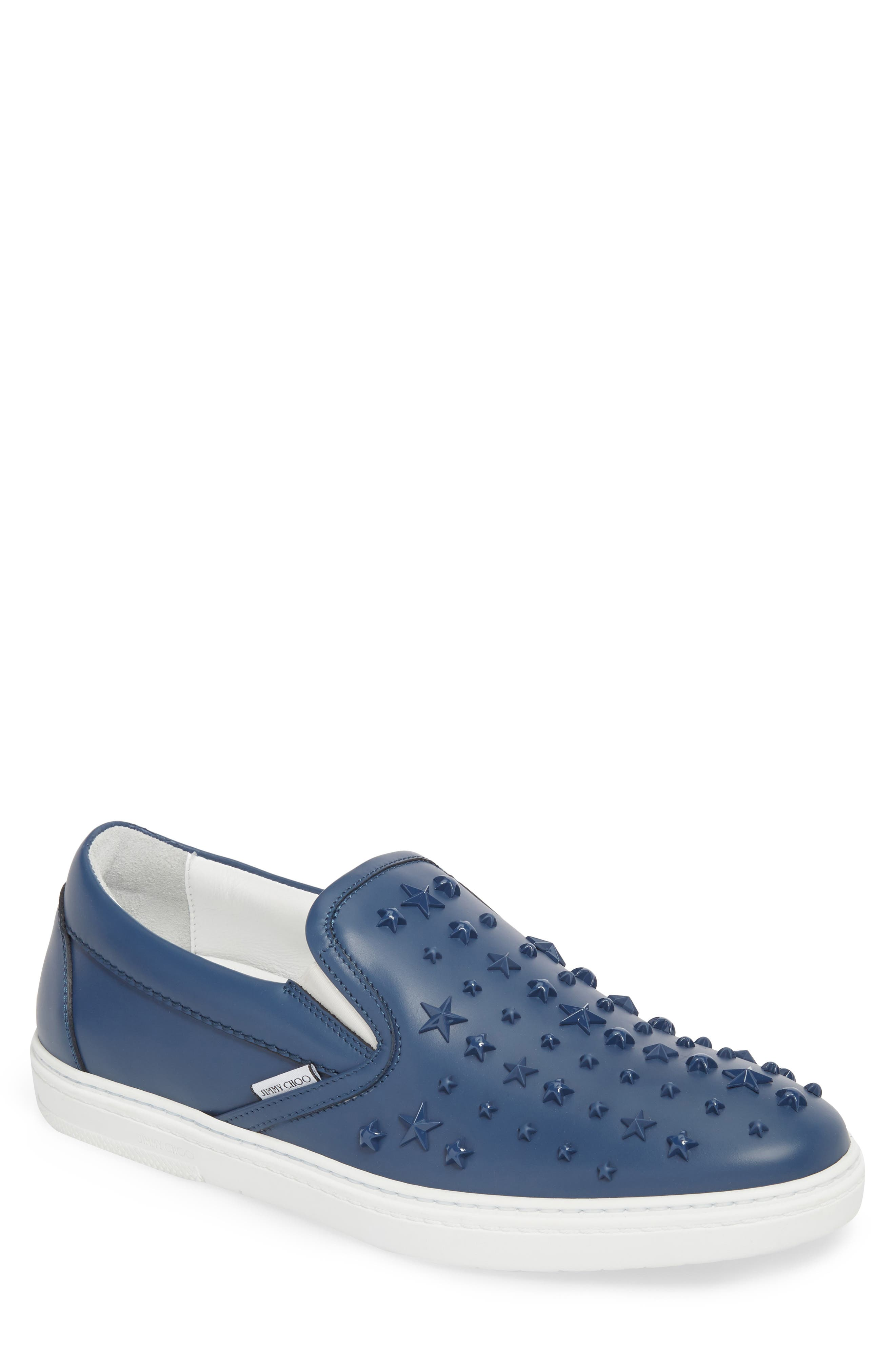 Jimmy Choo Grove Star Embellished Slip-On Sneaker (Men)
