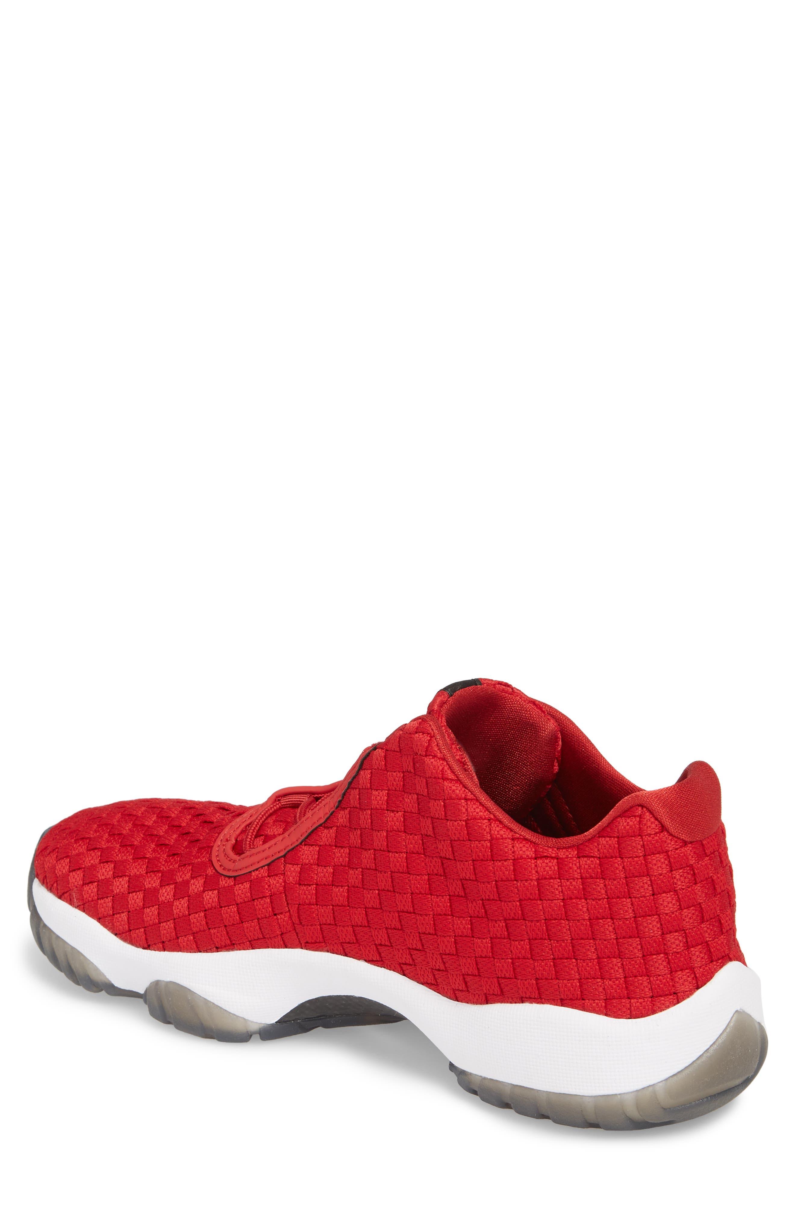 Air Jordan Future Woven Sneaker,                             Alternate thumbnail 2, color,                             Gym Red/ White/ Black