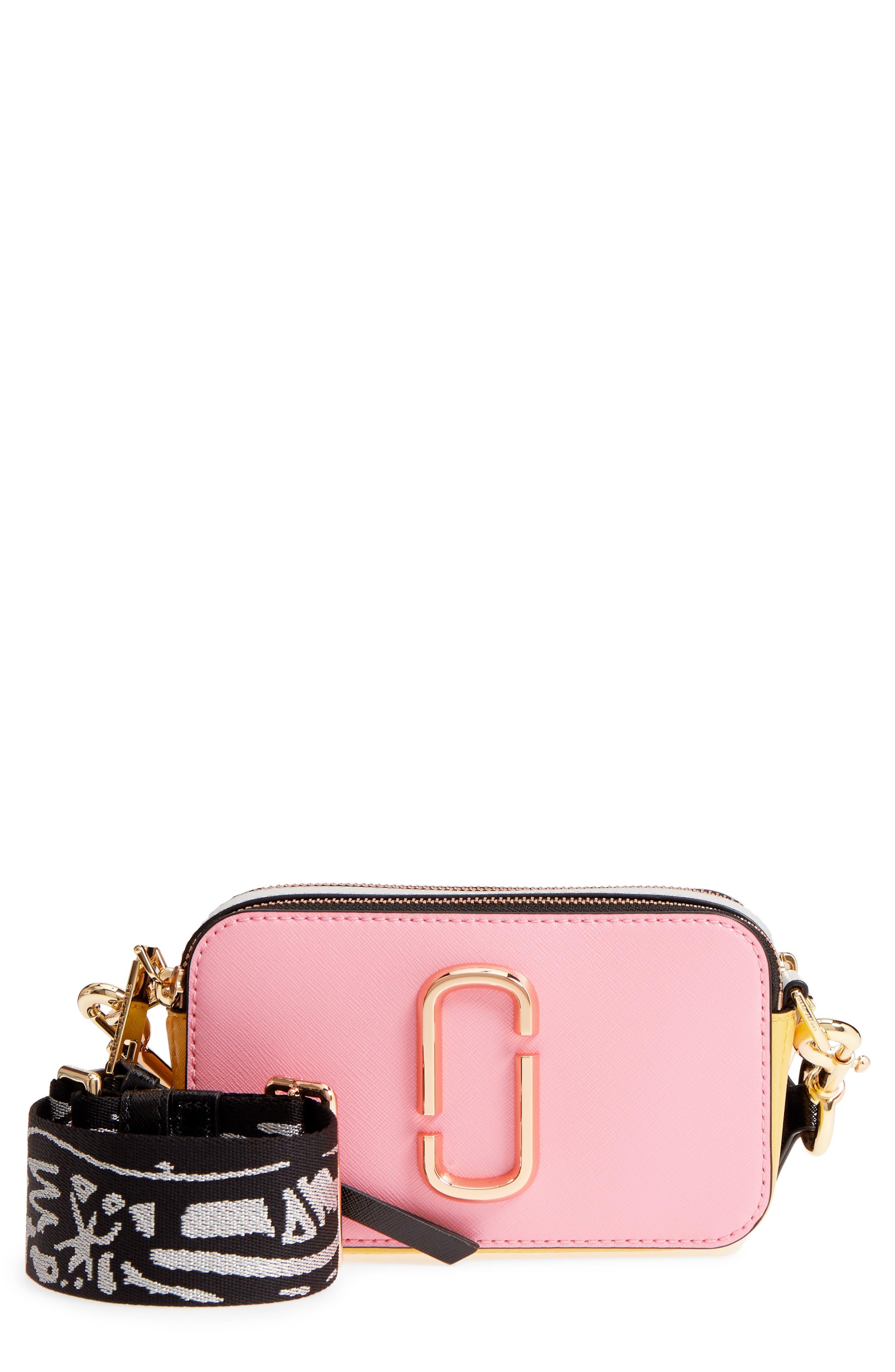 Snapshot Crossbody Bag,                             Main thumbnail 1, color,                             Baby Pink Multi