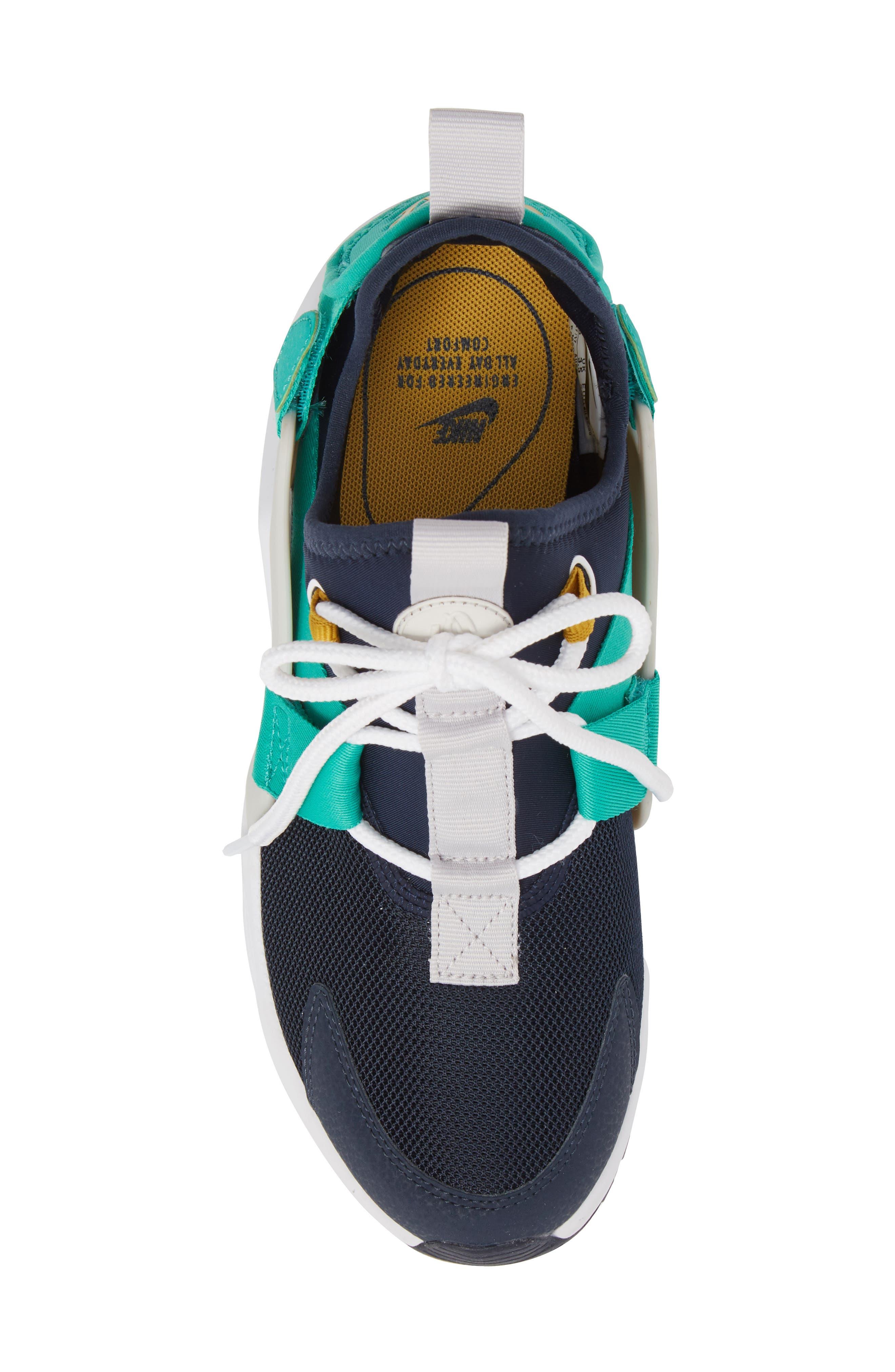 Air Huarache City Low Sneaker,                             Alternate thumbnail 5, color,                             Obsidian/ White/ Grey/ Green