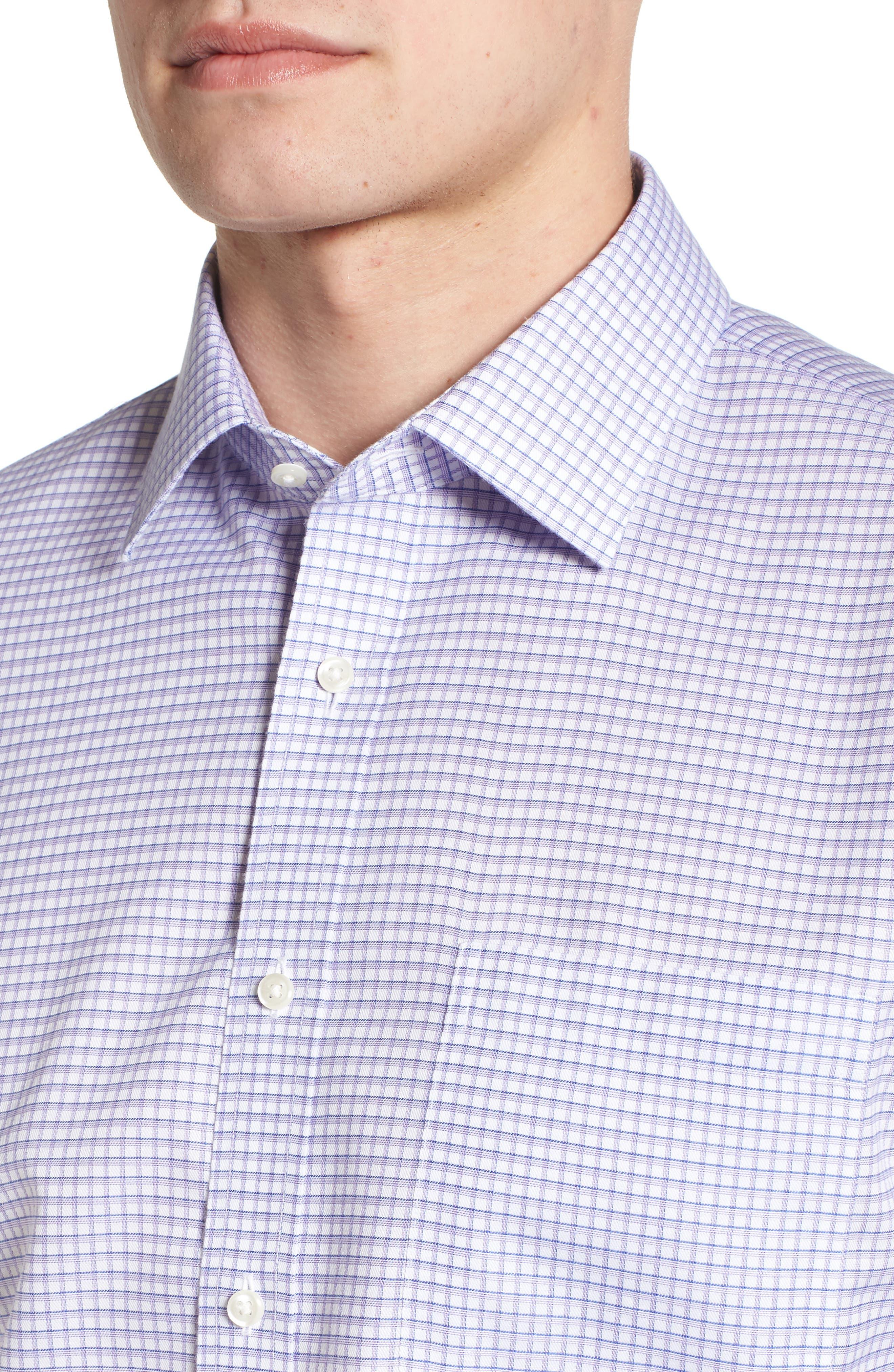 Smartcare<sup>™</sup> Traditional Fit Check Sport Shirt,                             Alternate thumbnail 2, color,                             Purple Dahlia