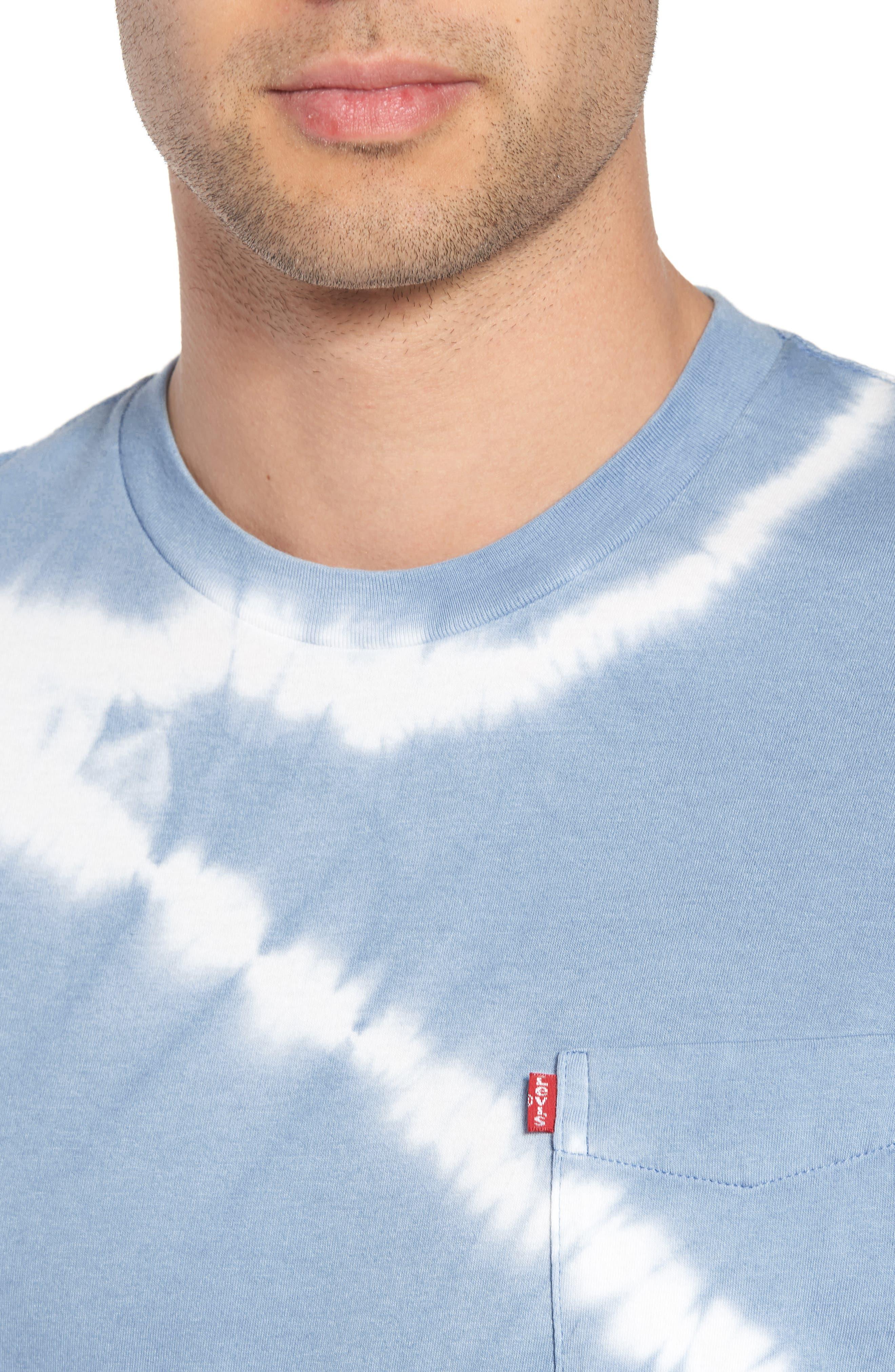 Set-In Sunset Pocket T-Shirt,                             Alternate thumbnail 4, color,                             Tie Dye Allure