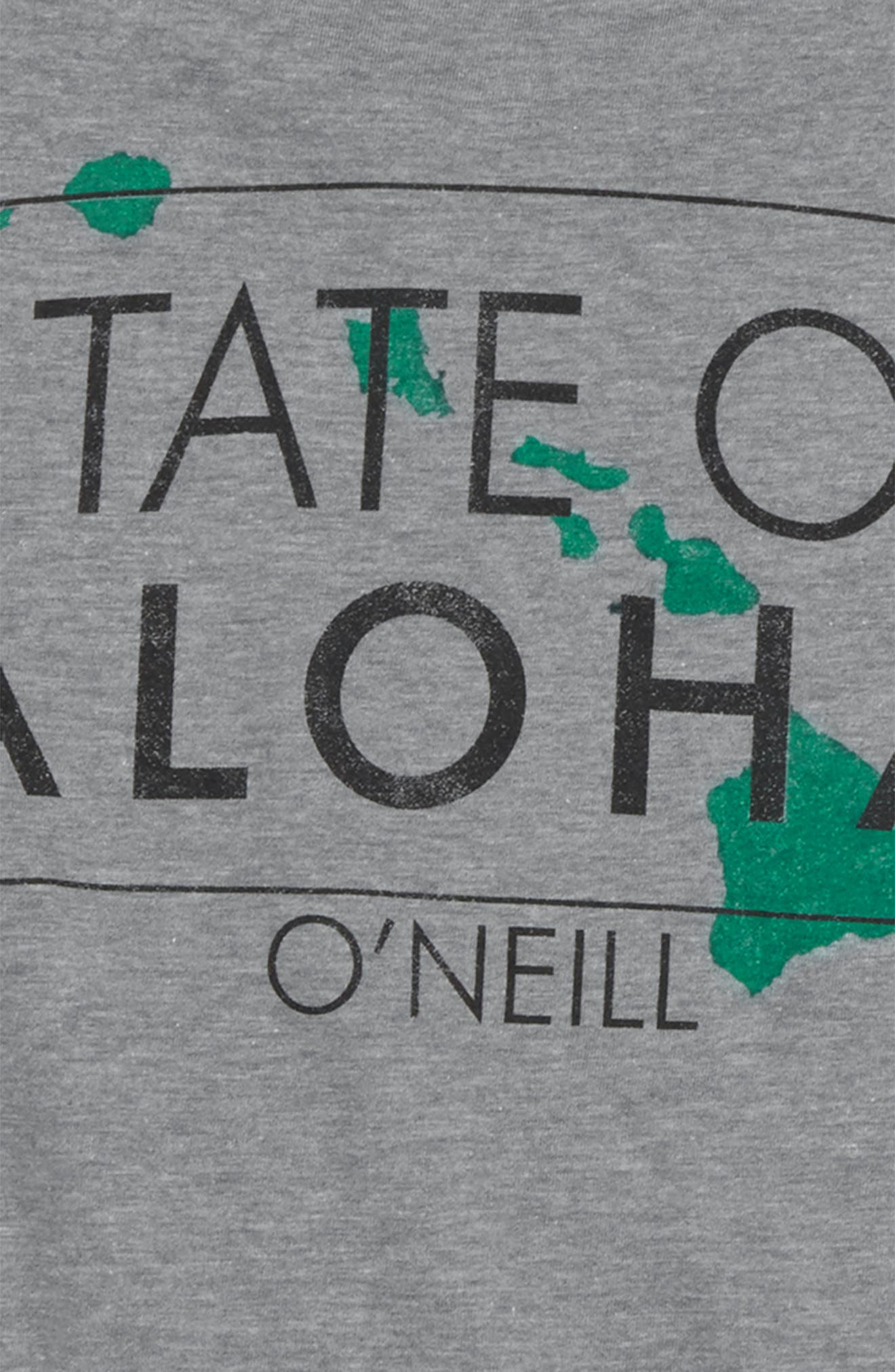 State of Aloha T-Shirt,                             Alternate thumbnail 3, color,                             Medium Heather Grey