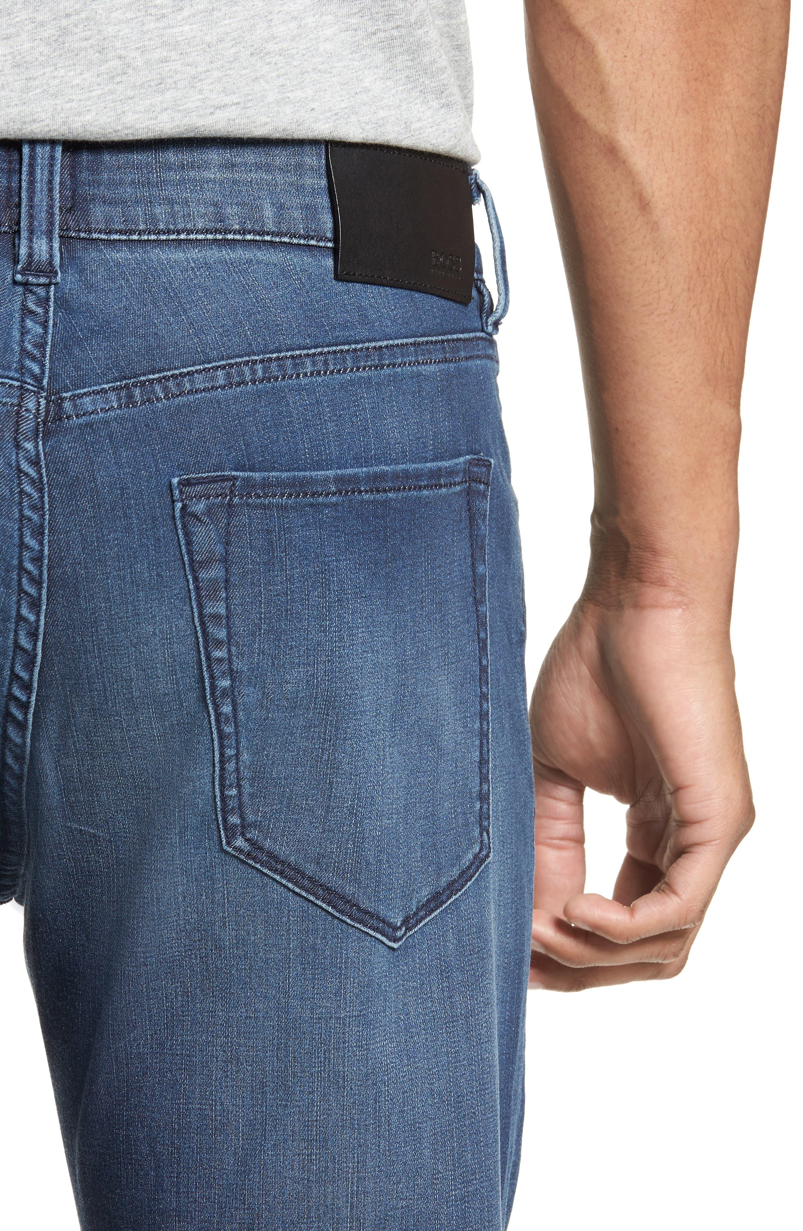 Maine Straight Leg Jeans,                             Alternate thumbnail 4, color,                             Blue
