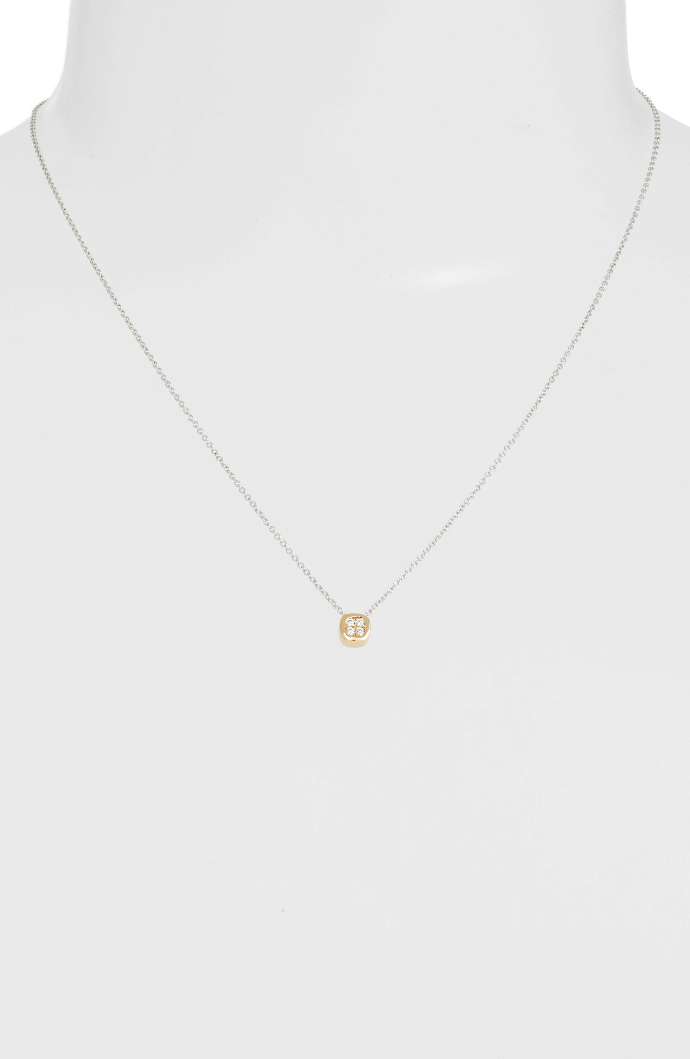 Pavé Pendant Necklace,                             Alternate thumbnail 2, color,                             Silver/ Gold/ Clear