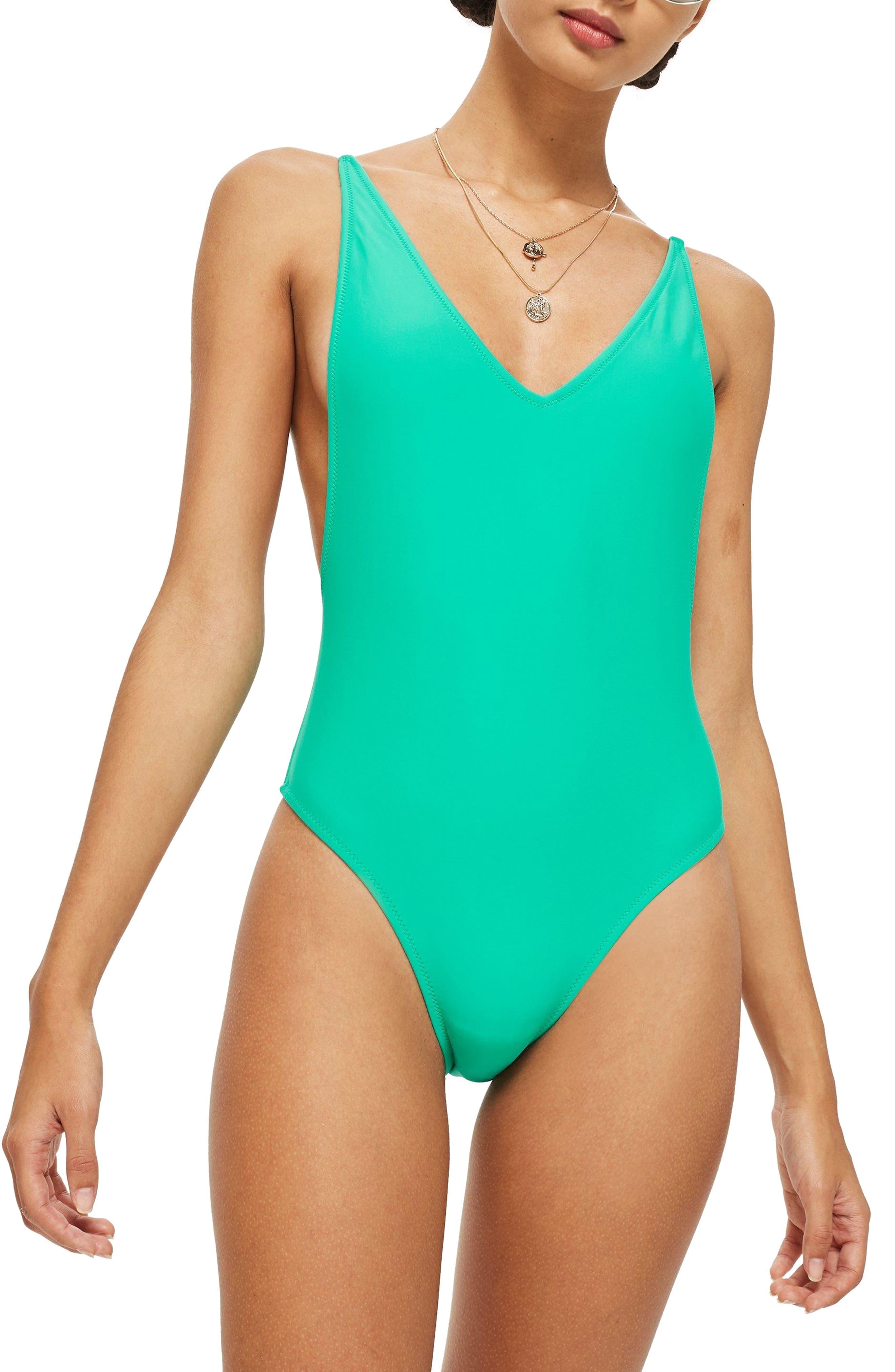 Alternate Image 1 Selected - Topshop Pamela One-Piece Swimsuit