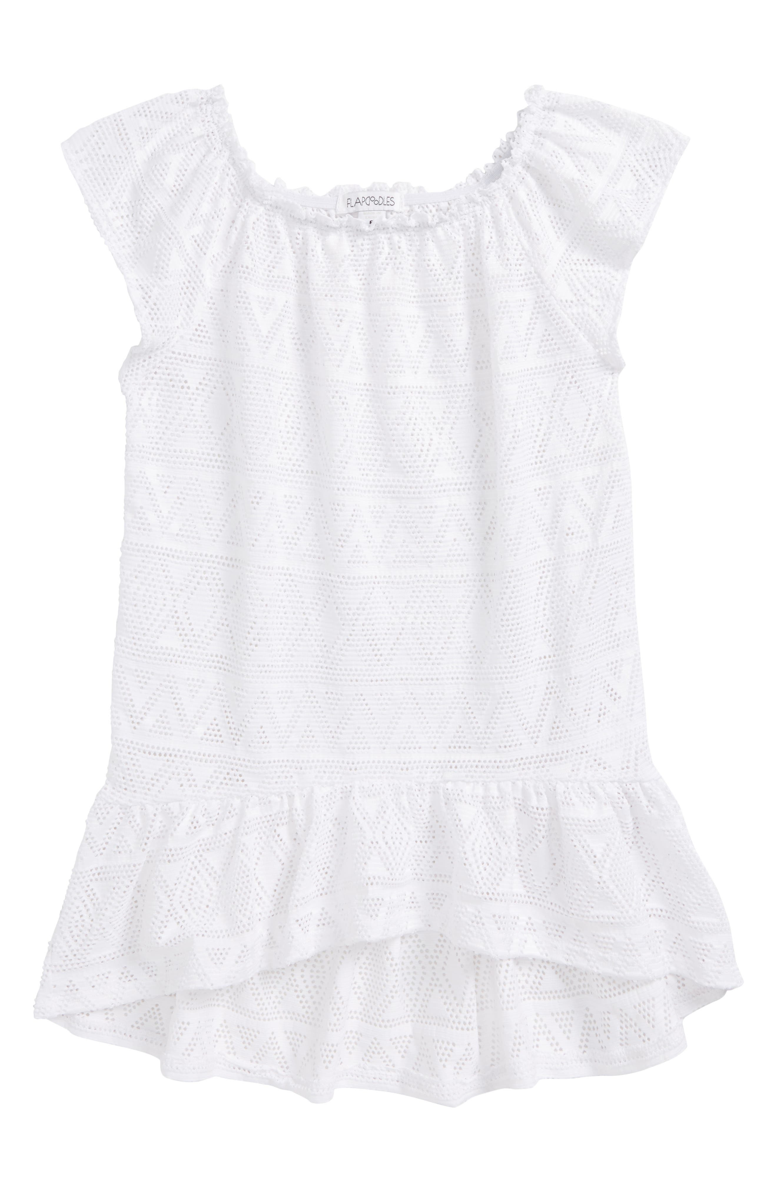 Flapdoodles High Low Cover-Up Dress (Toddler Girls & Little Girls)