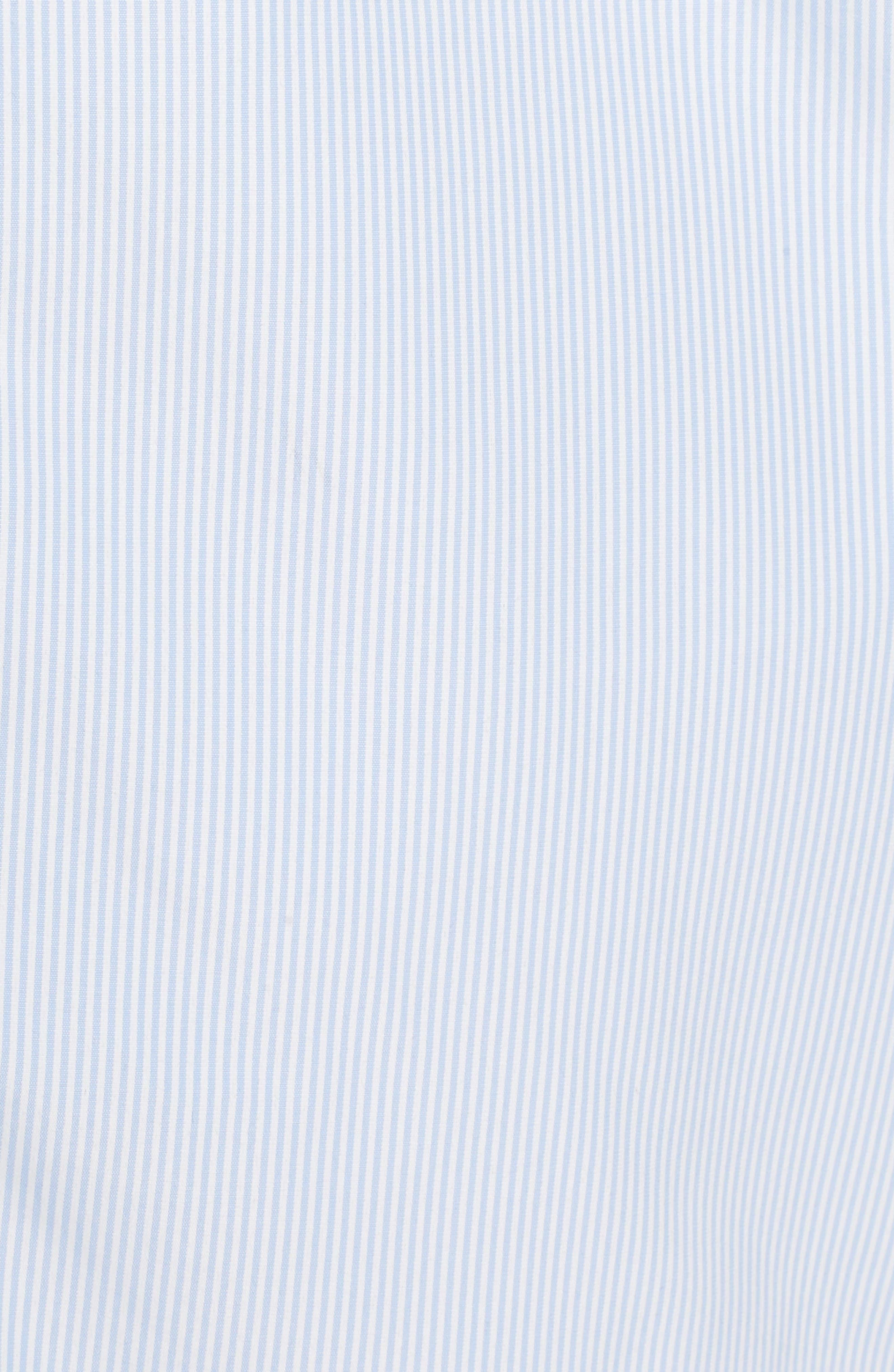 Smocked Off the Shoulder Dress,                             Alternate thumbnail 3, color,                             Bright White / Serenity