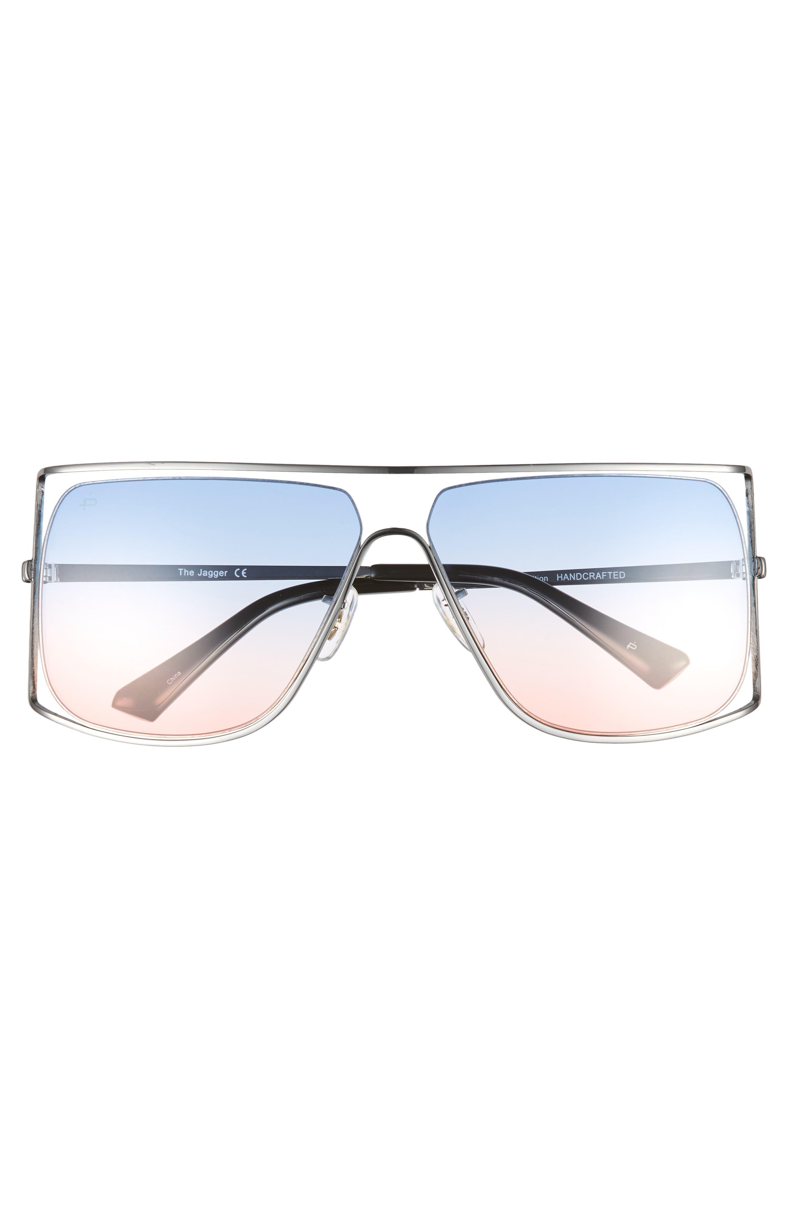 Privé Revaux The Jagger 60mm Square Sunglasses,                             Alternate thumbnail 4, color,                             Silver