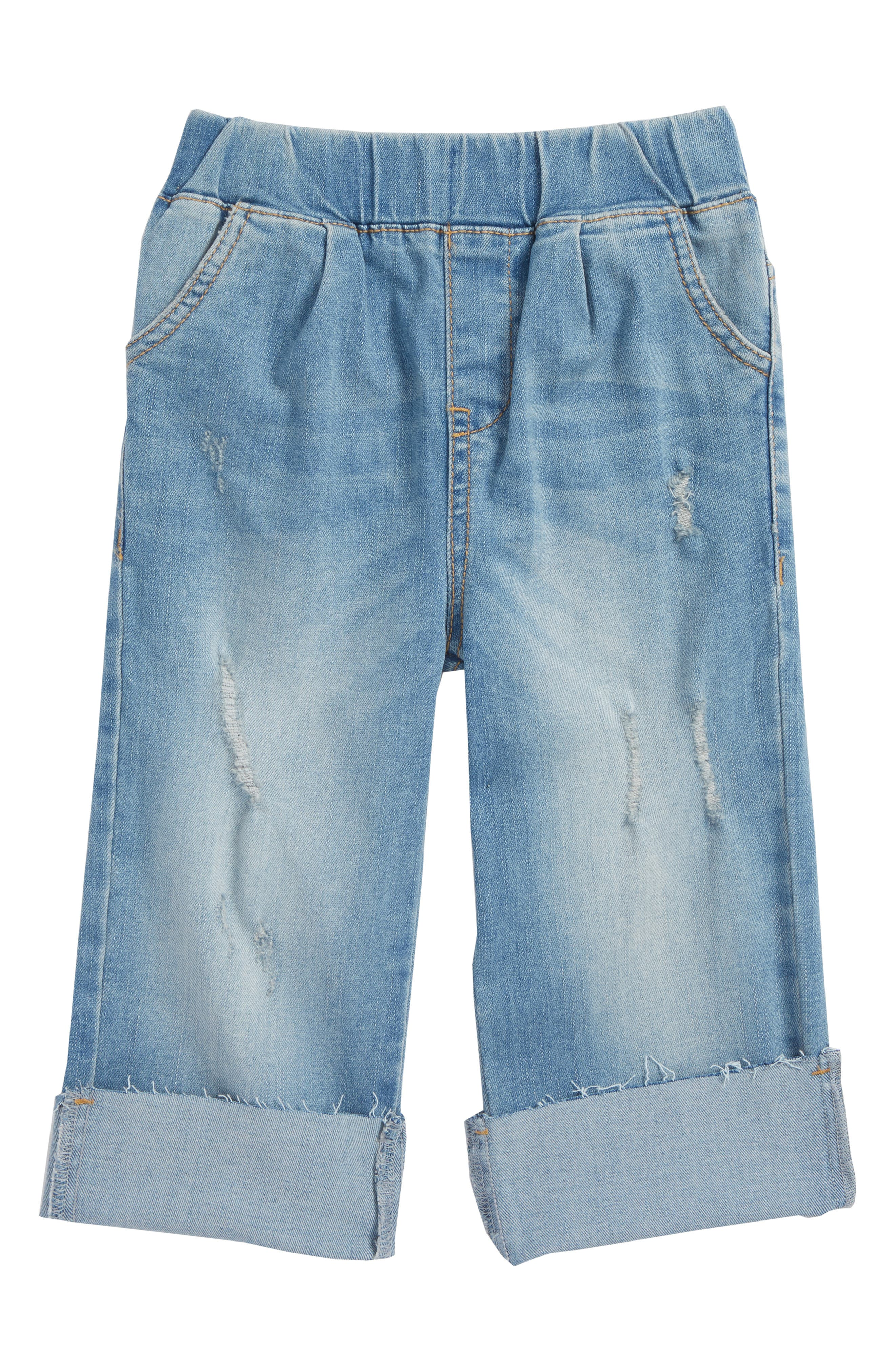 Wide Cuff Jeans,                             Main thumbnail 1, color,                             Echo Wash