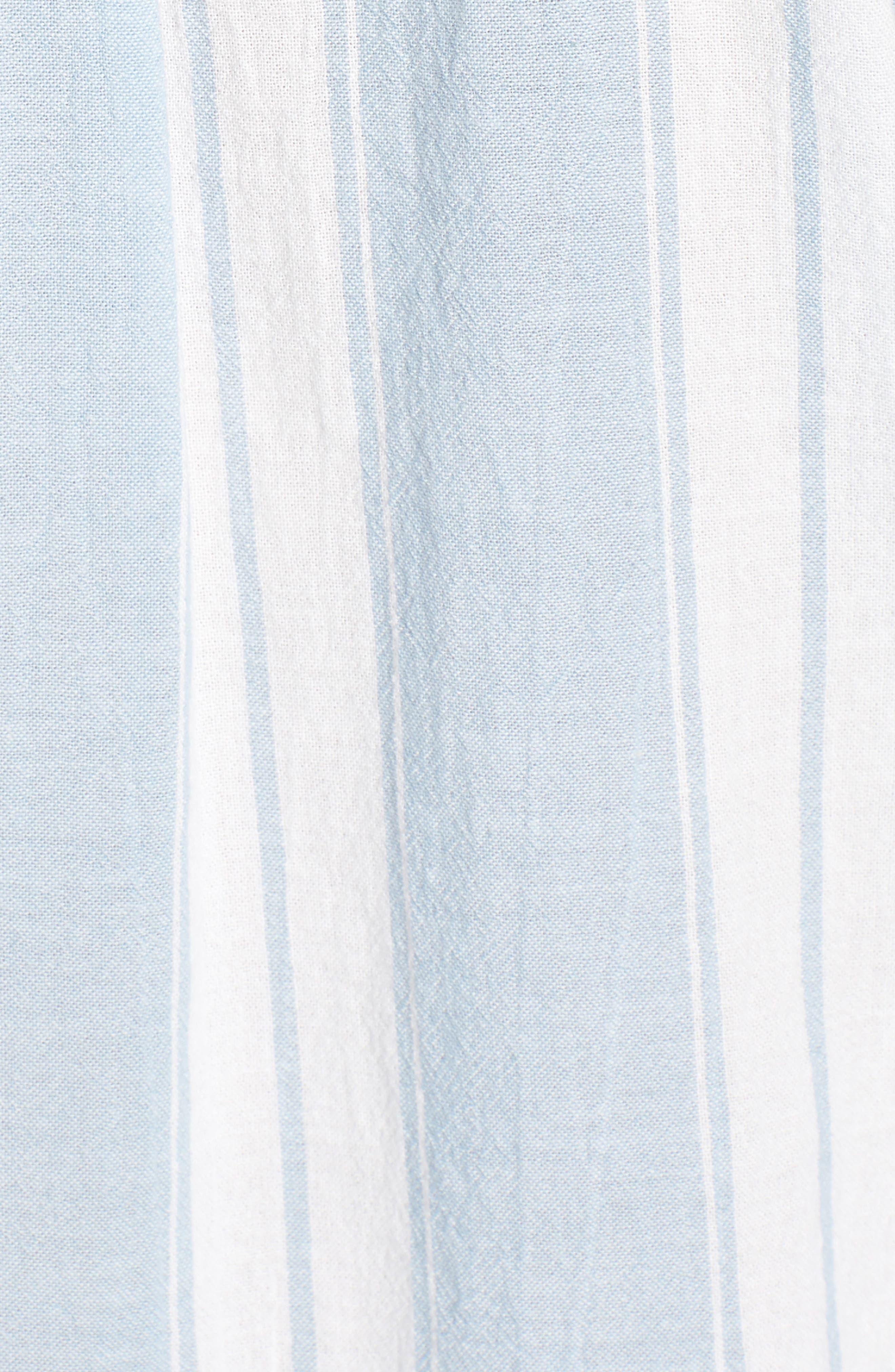 Bleach Stripe Chambray Top,                             Alternate thumbnail 6, color,                             Blue/ White