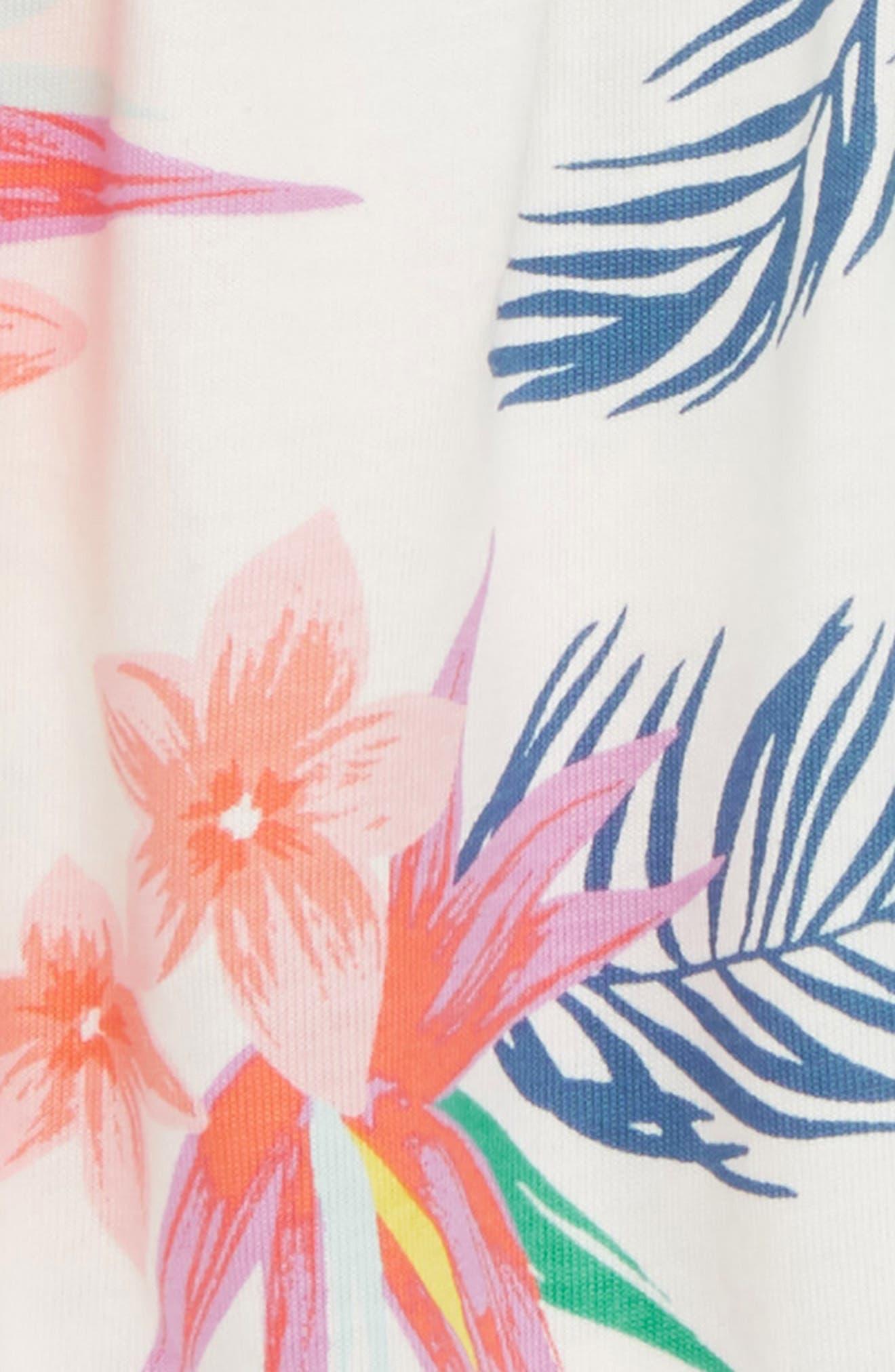 Bubble Romper,                             Alternate thumbnail 2, color,                             Hawaiian Florals