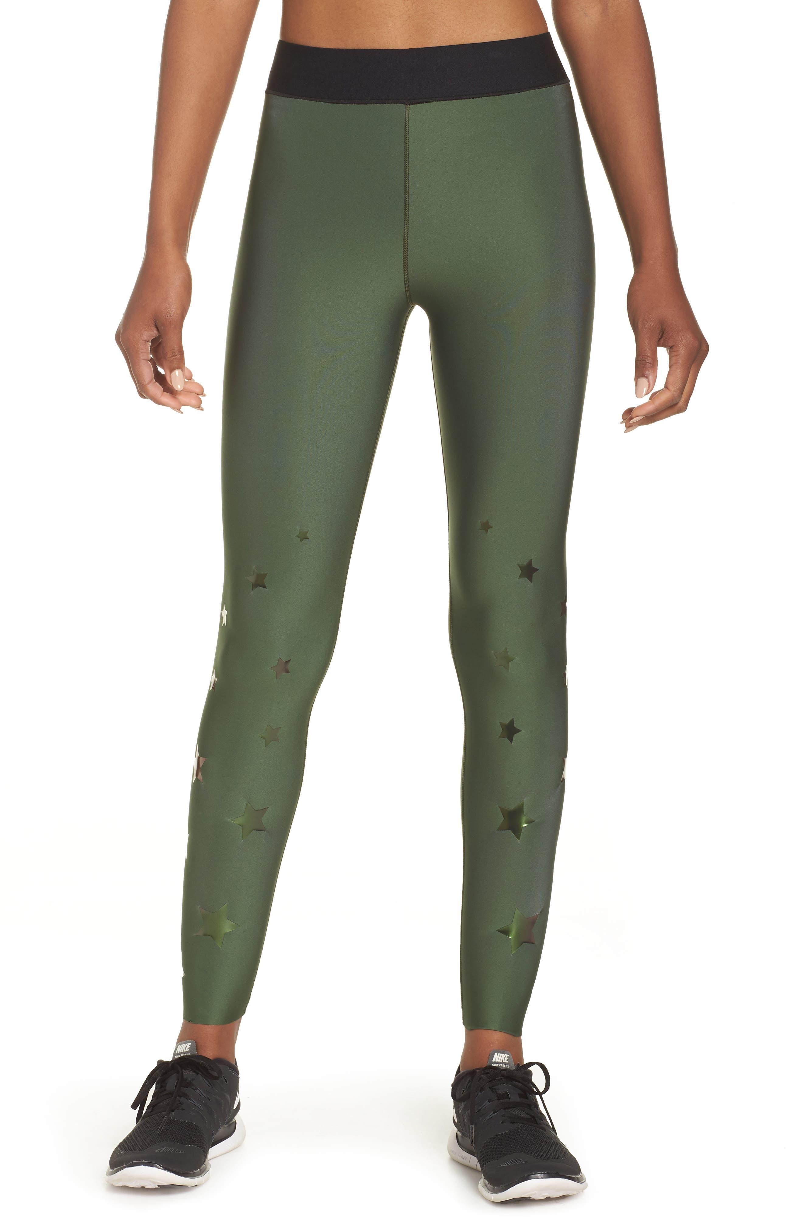 Ultra Luster Leggings,                             Main thumbnail 1, color,                             Army Green Beetle