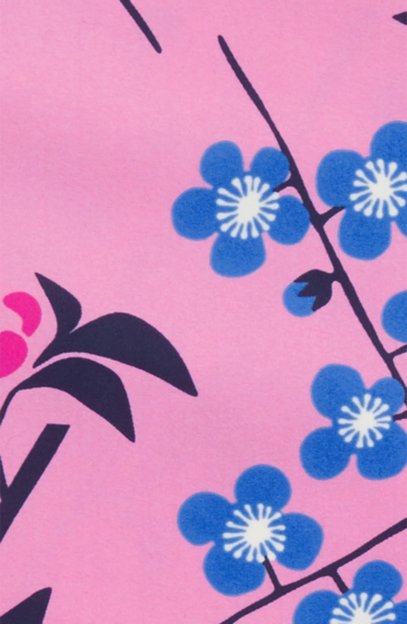 Mixed Print Two-Piece Rashguard Swimsuit,                             Alternate thumbnail 2, color,                             Branch Blossoms