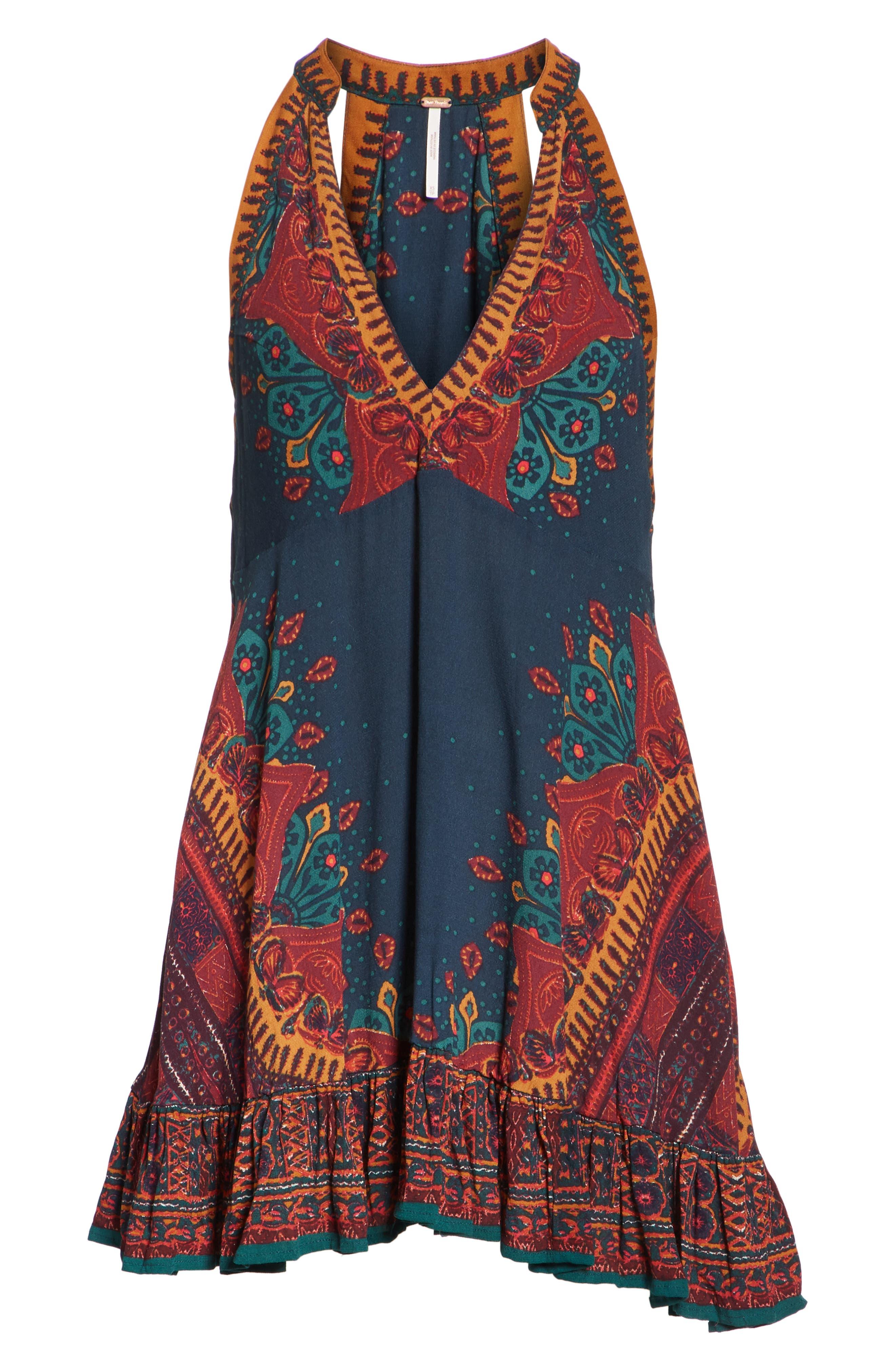 Steal the Sun Reversible Dress,                             Alternate thumbnail 6, color,                             Blue