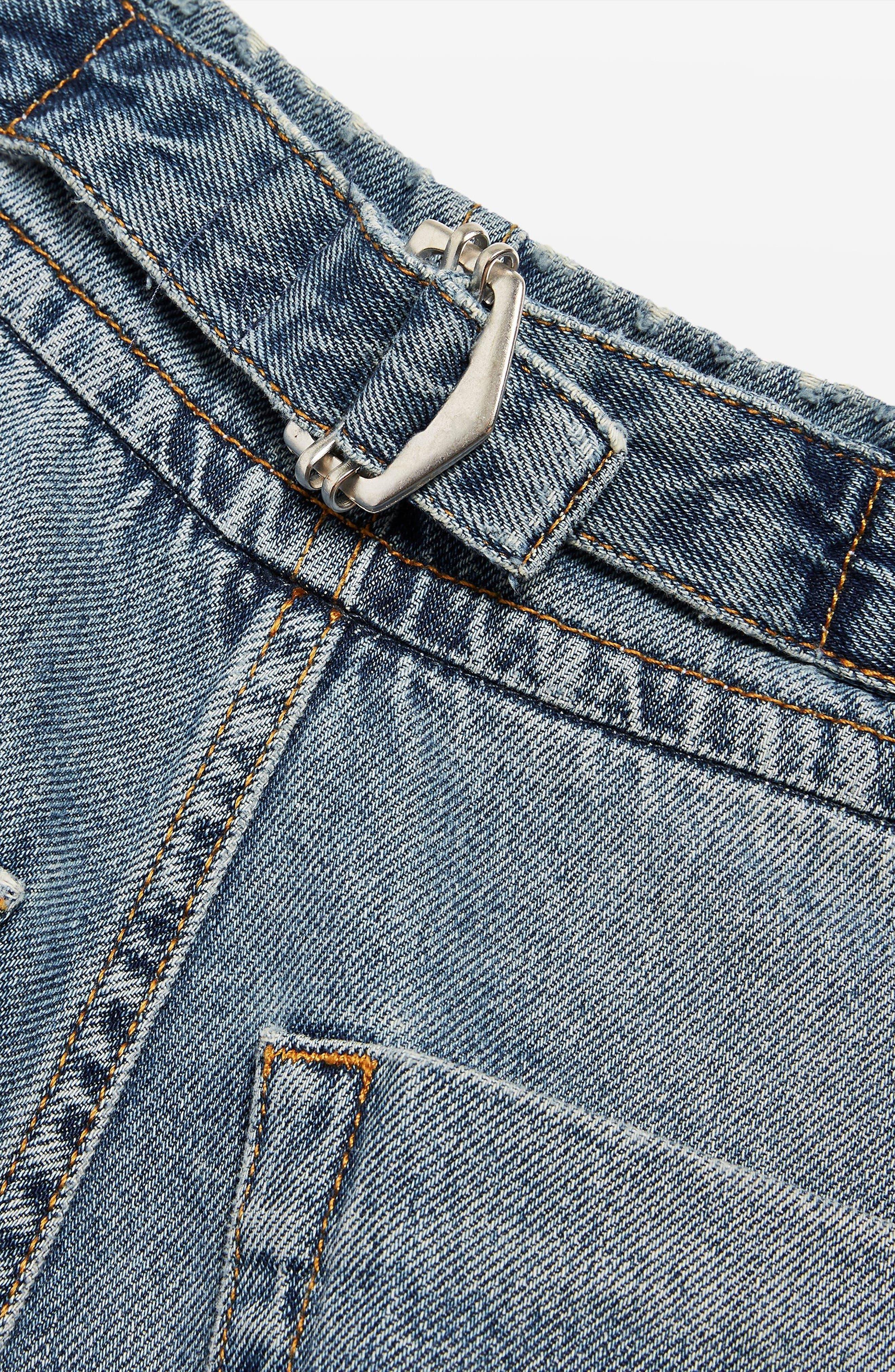 Slouch Cinch Jeans,                             Alternate thumbnail 4, color,                             Blue