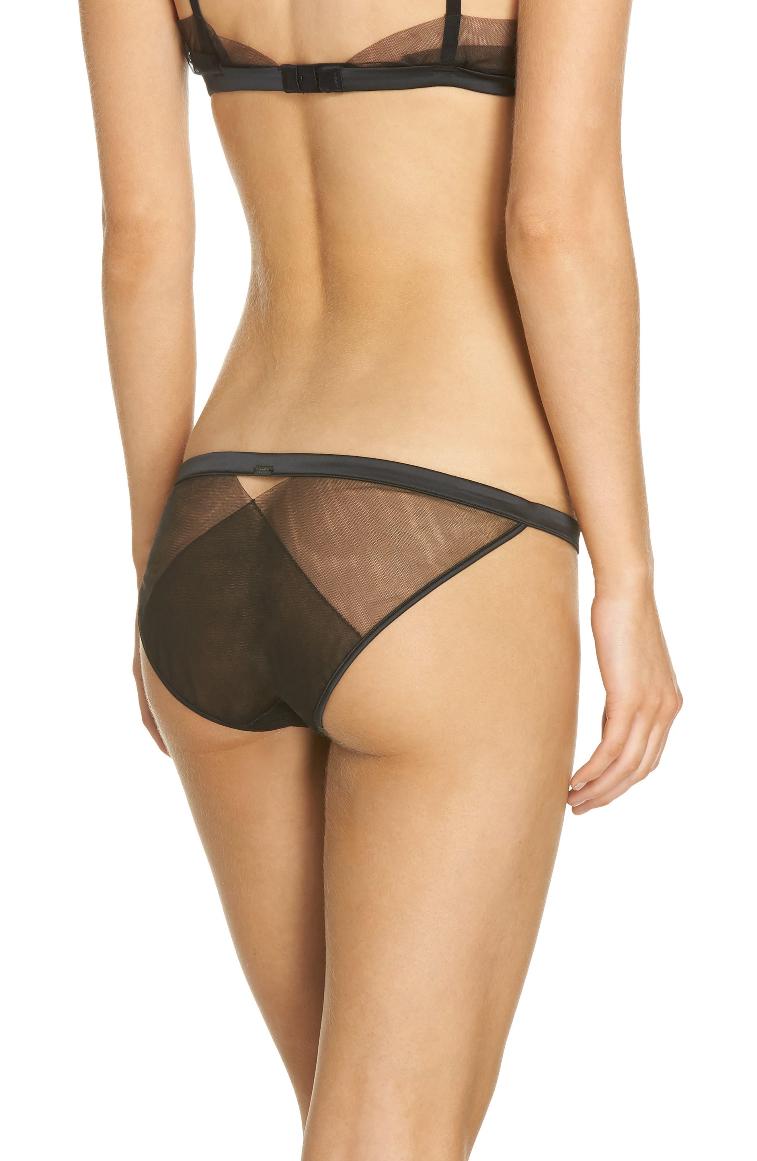 Lace Bikini,                             Alternate thumbnail 2, color,                             Black
