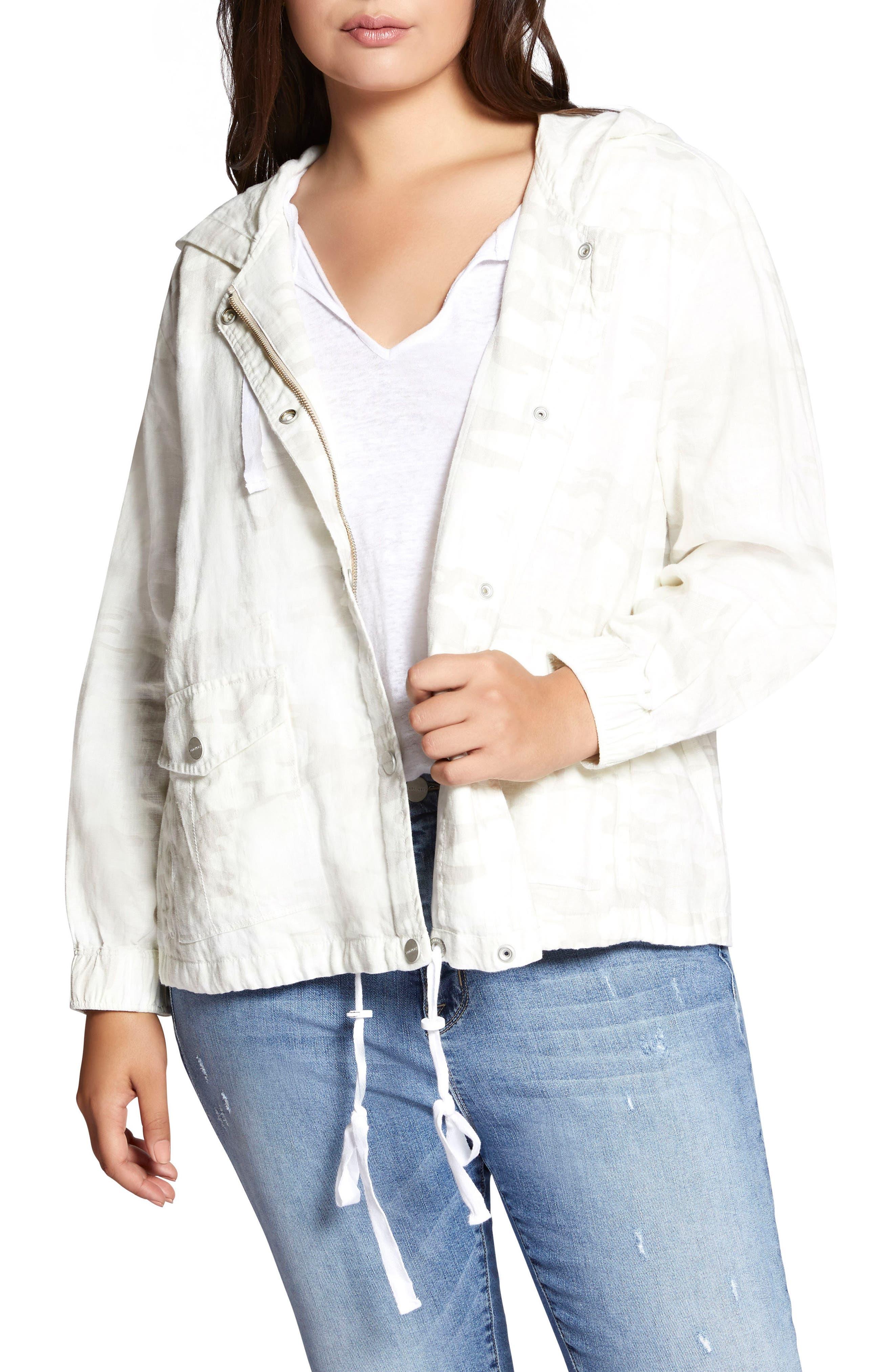 Nova Hooded Jacket,                         Main,                         color, White Camo