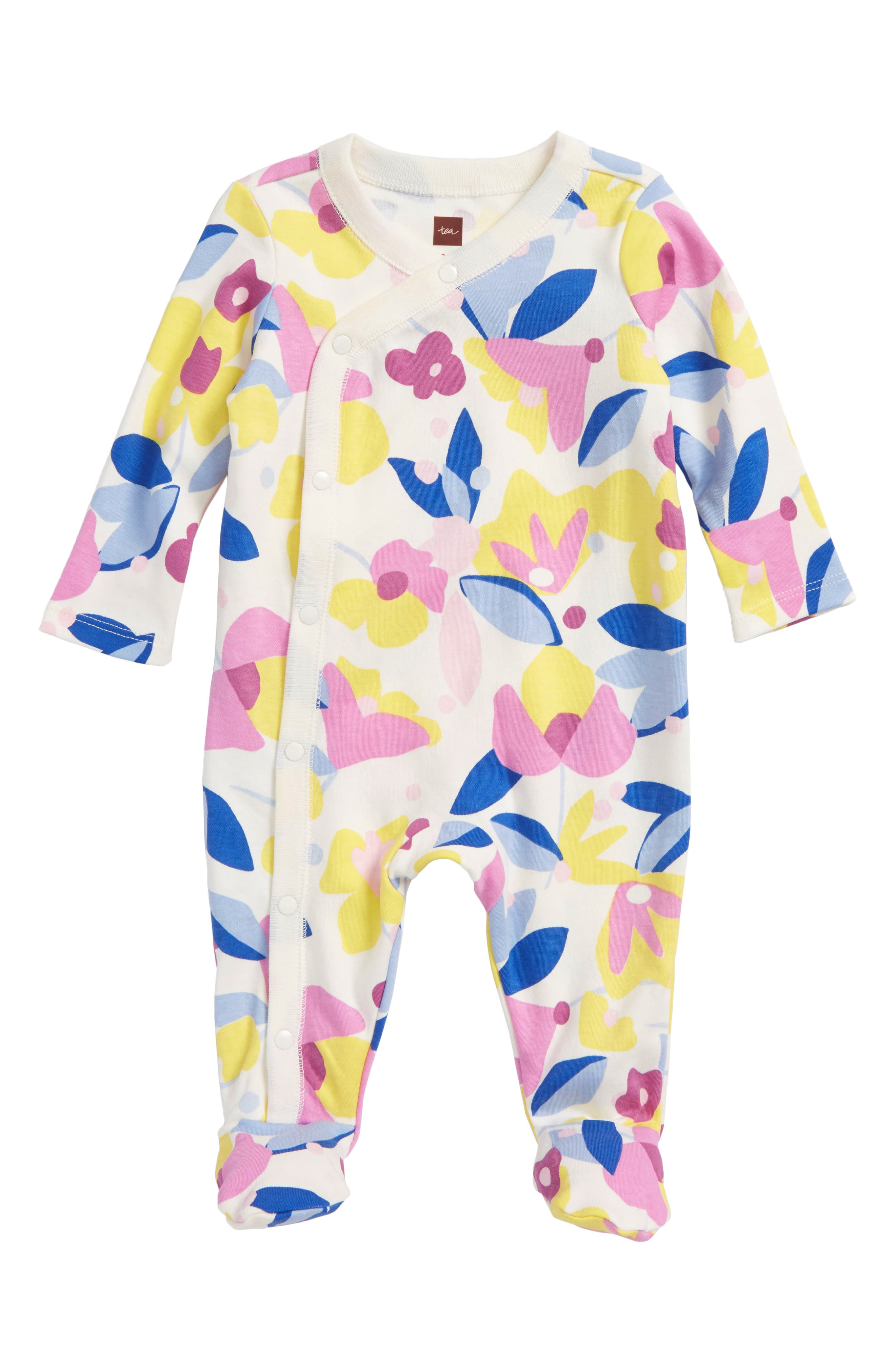 Main Image - Tea Collection Print Footie (Baby Girls)
